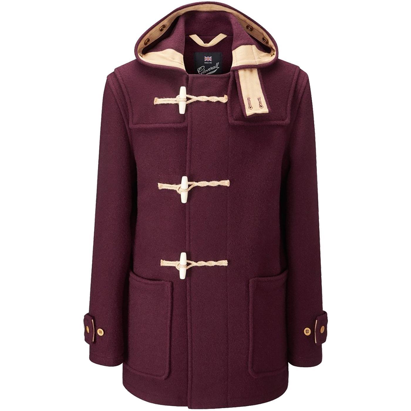 Mid Monty GLOVERALL Mod 60s Wool Duffle Coat (Bu)