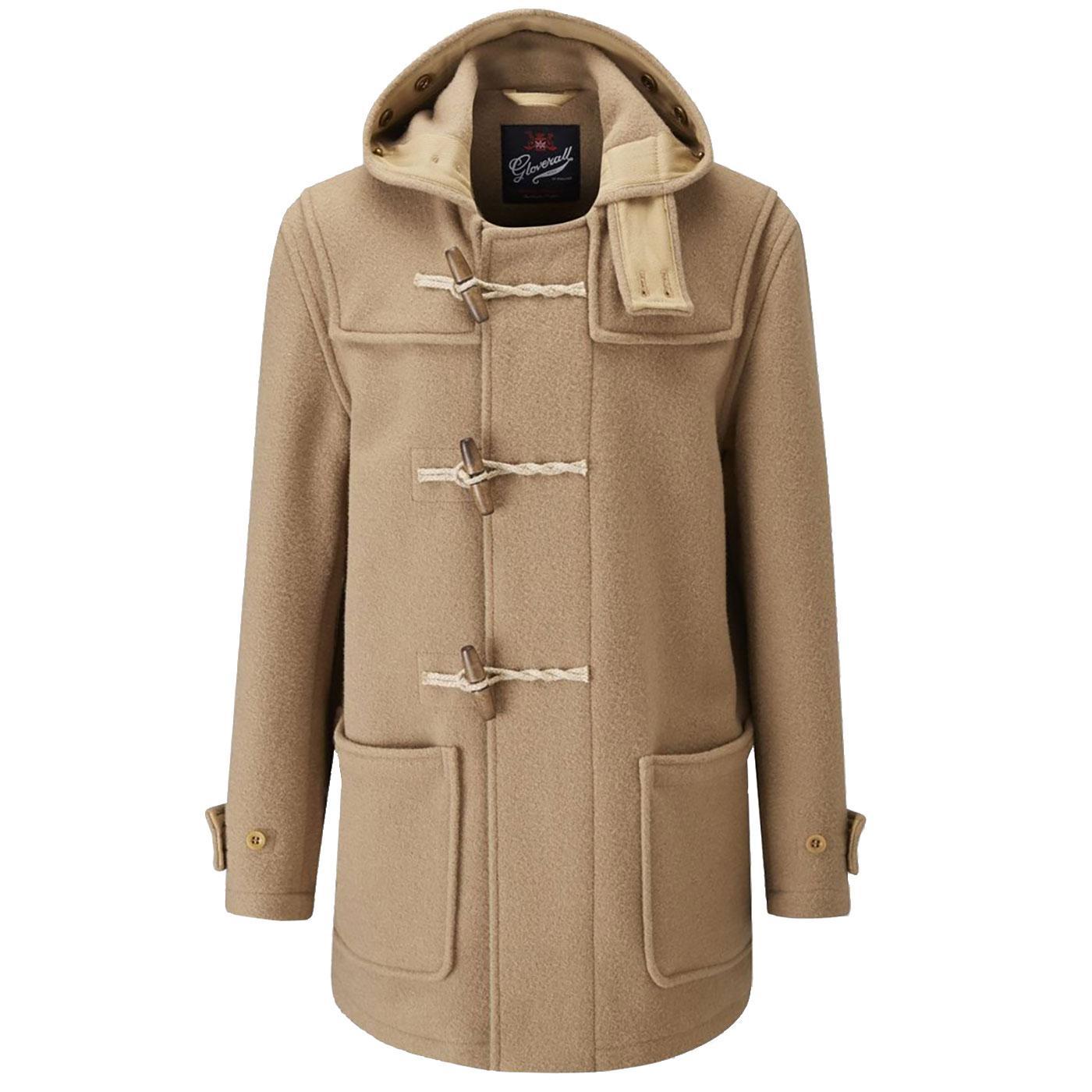 Mid Monty GLOVERALL Mod 60s Wool Duffle Coat (C)