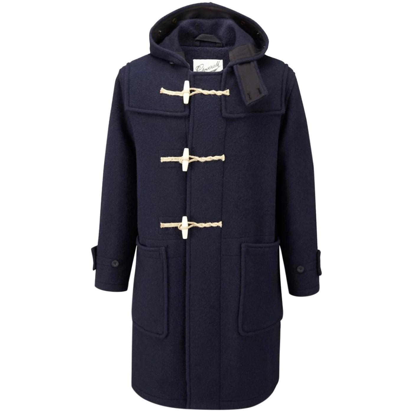 Original Monty GLOVERALL British Duffle Coat NAVY