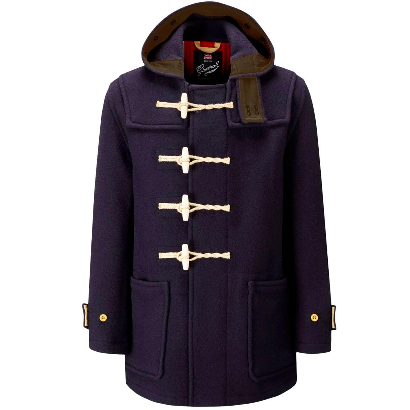 GLOVERALL Union Jack Mid Monty Duffle Coat (Navy)