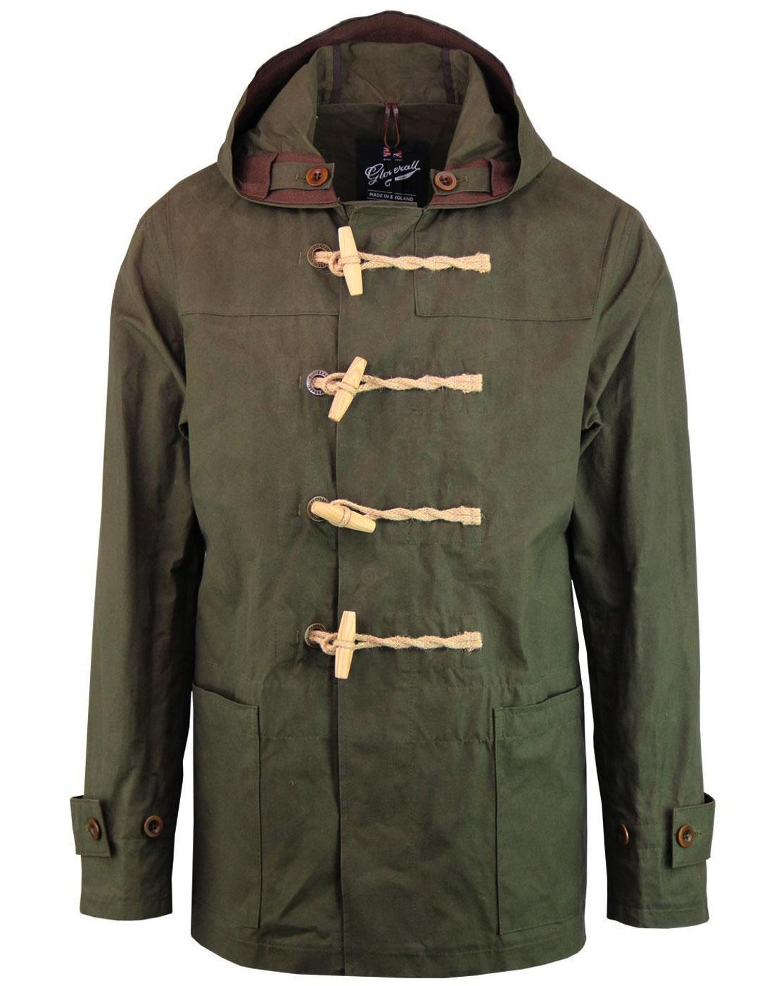 GLOVERALL Summer Mid Monty Waxed Duffle Coat (K)