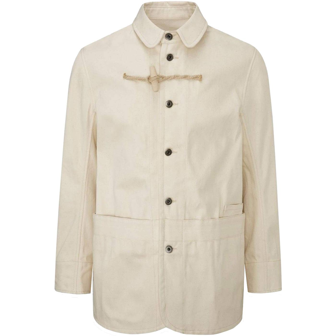 GLOVERALL X ULLAC Cotton Twill Painter Jacket ECRU