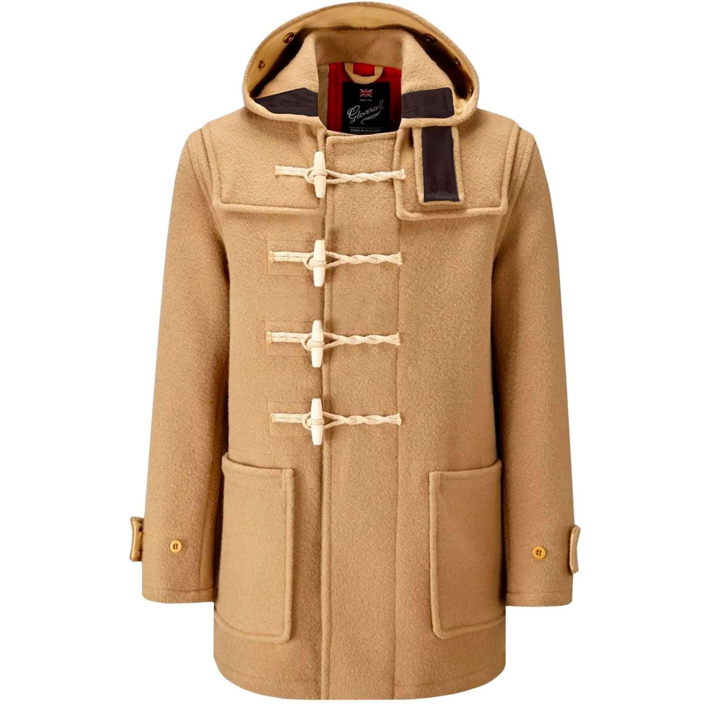 GLOVERALL Union Jack Mid Monty Duffle Coat (Camel)