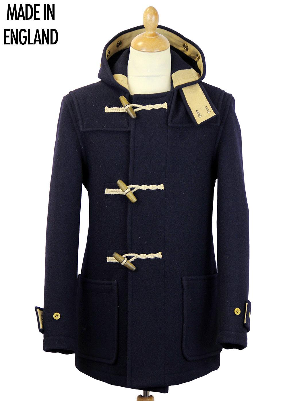 GLOVERALL Retro Mid Length Monty Duffle Coat NAVY