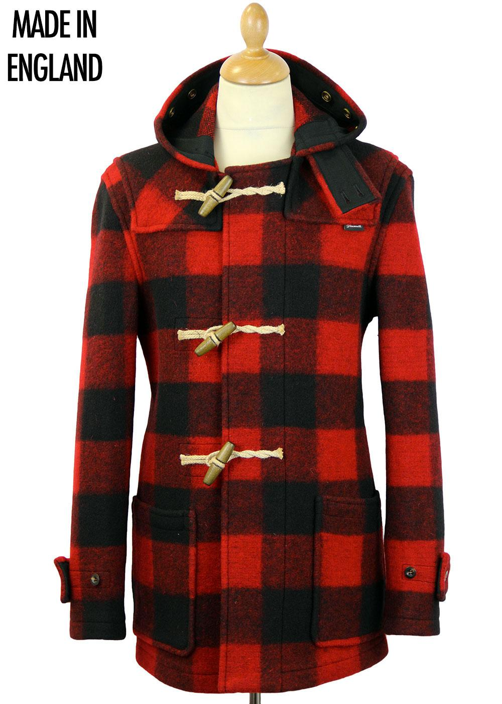 GLOVERALL Rob Roy Check Mid Monty Duffle Coat
