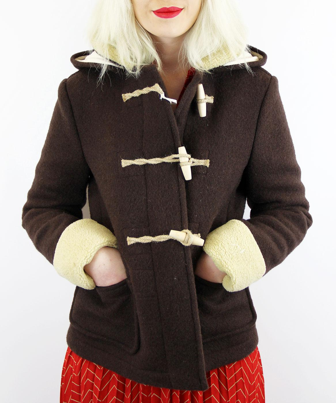 GLOVERALL 433652 Retro Short Sherpa Duffle Coat