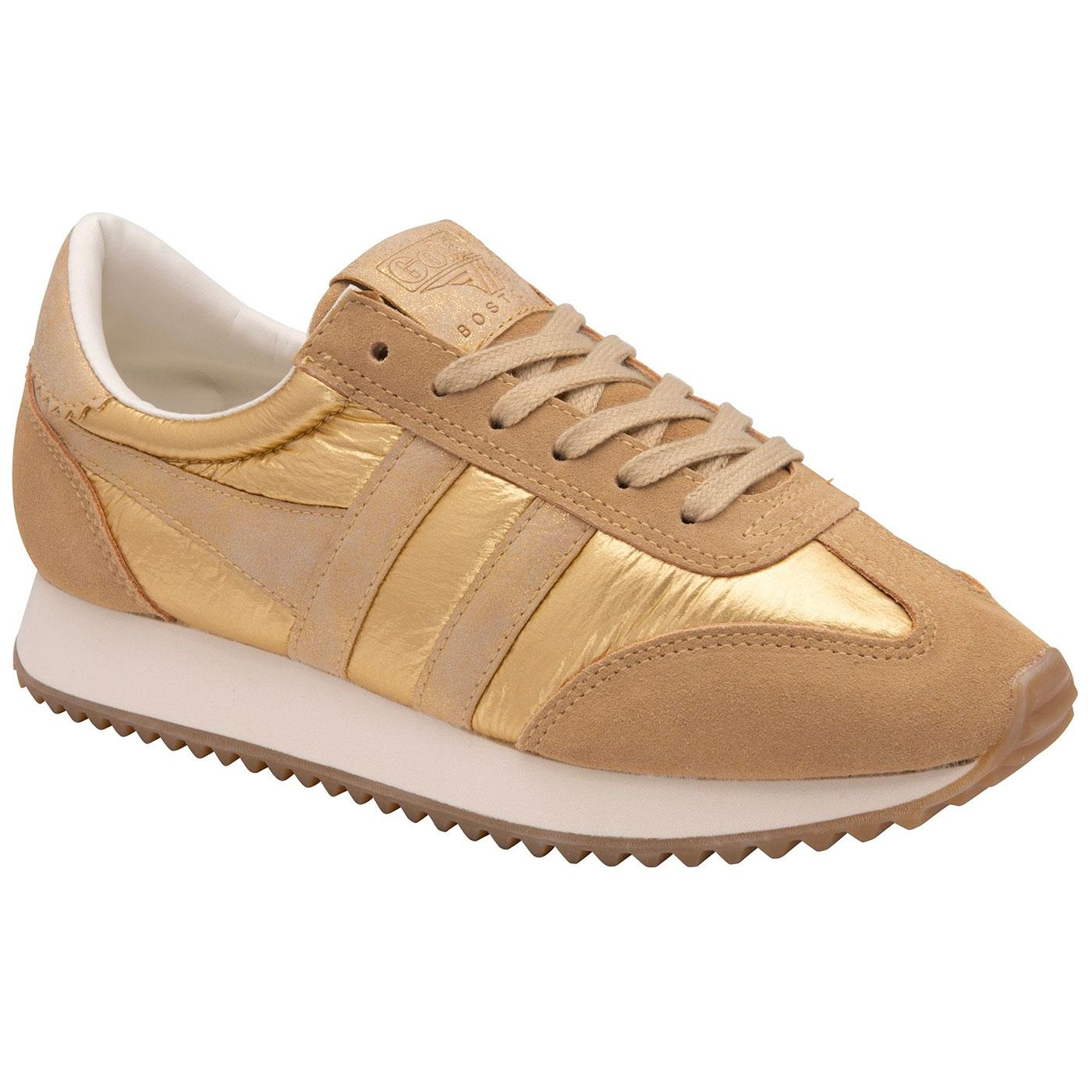 Boston 78 GOLA Women's Retro 70s Trainers (Gold)