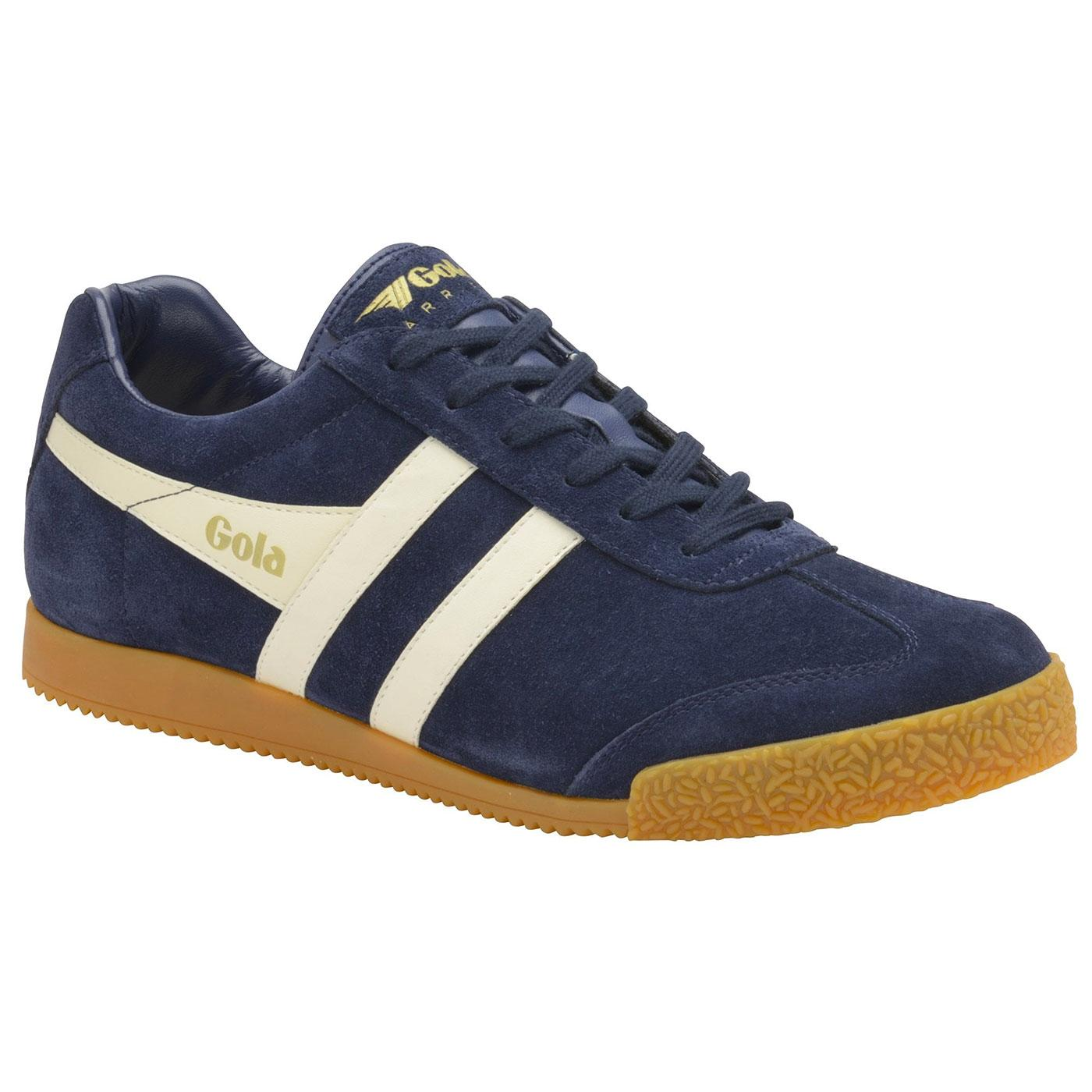 Harrier Suede GOLA CLASSICS Retro Trainers (N/W)