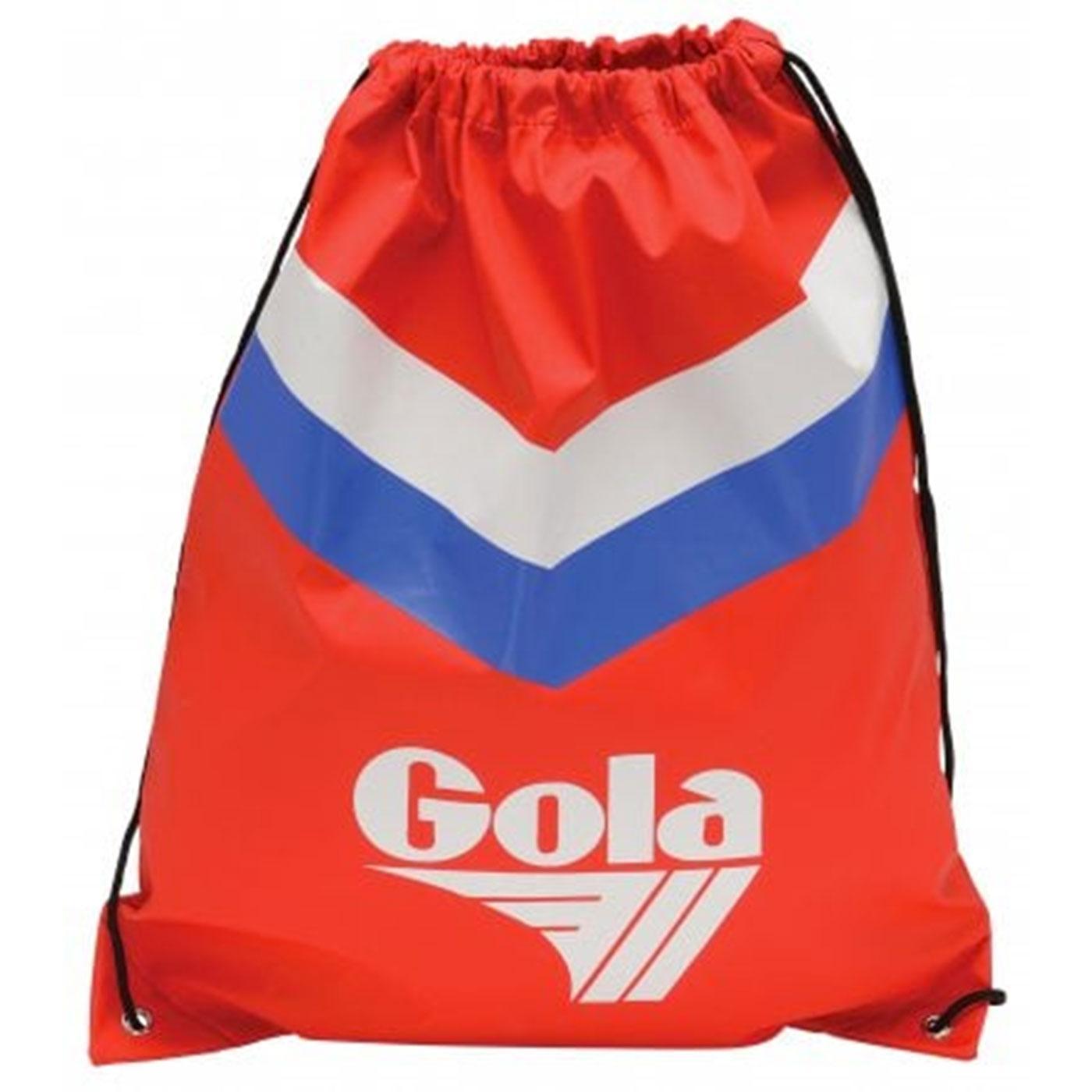 Hicks GOLA Chevron Retro 1970s Duffle Bag (Red)