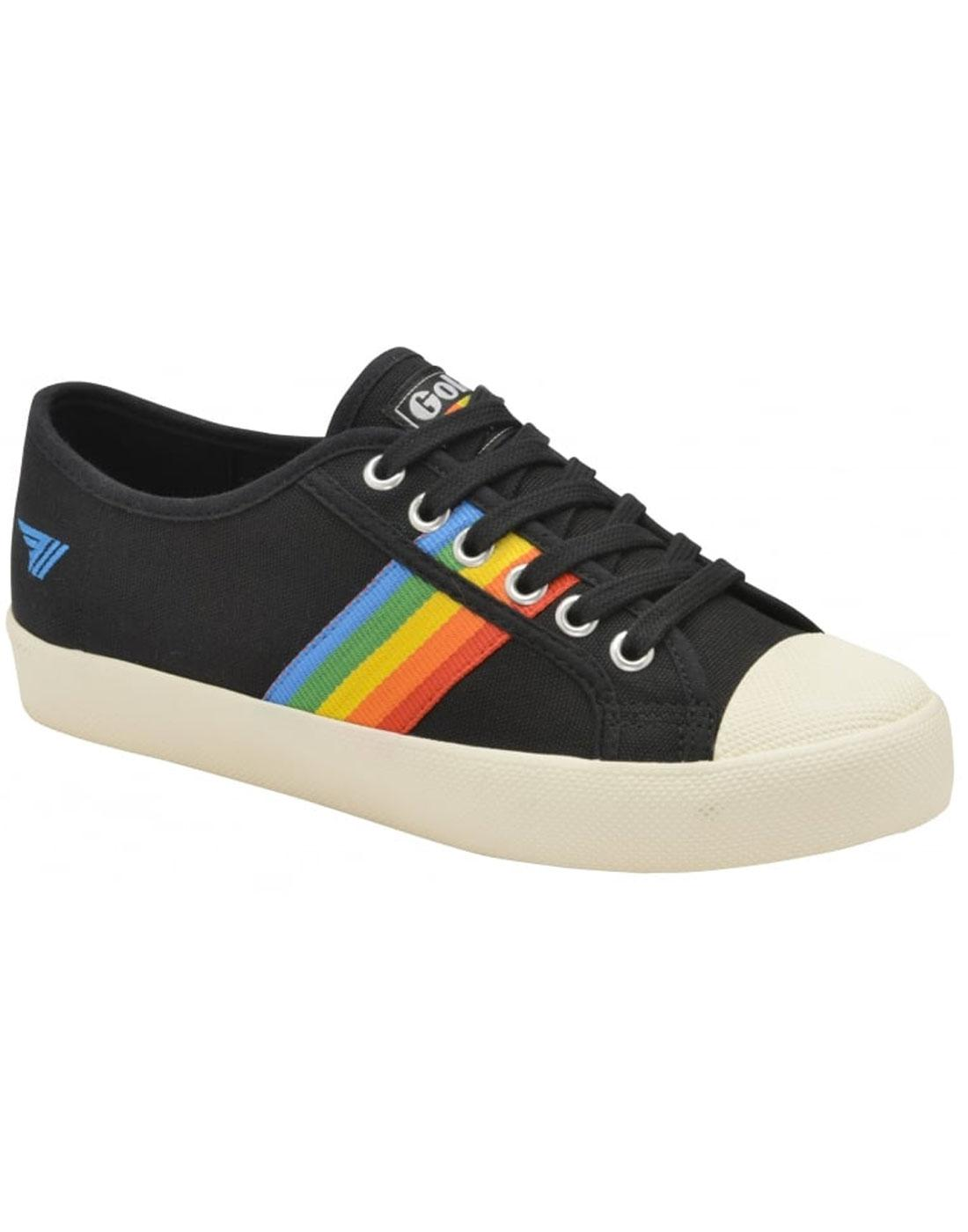 Coaster Rainbow GOLA Retro 1990s Canvas Trainers B