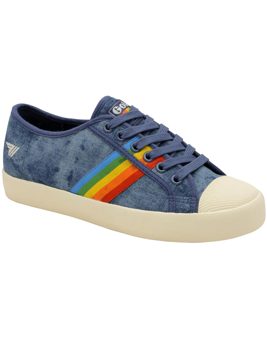 Coaster Rainbow GOLA Retro 90s Canvas Trainers D