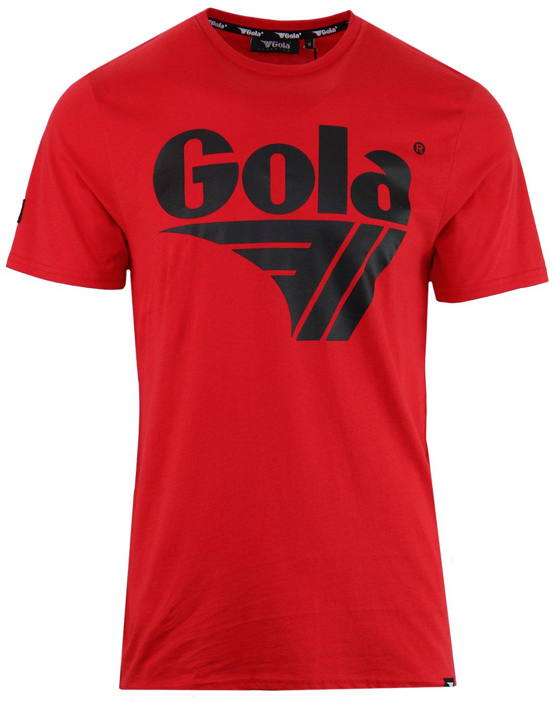 Dunne GOLA CLASSICS 1980's Chest Logo Tee - Red