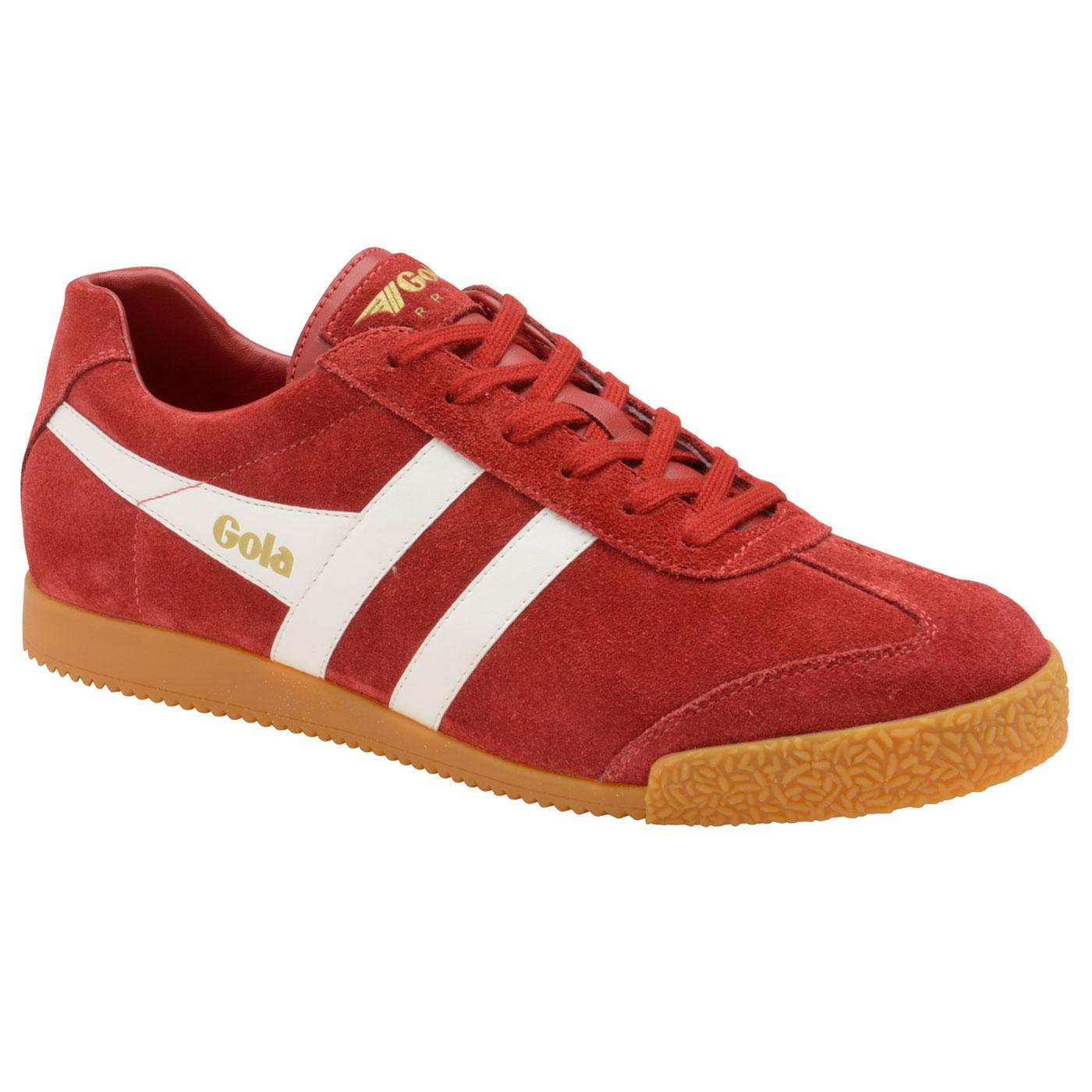 GOLA Harrier Suede Mens Retro 1970s Trainers Red