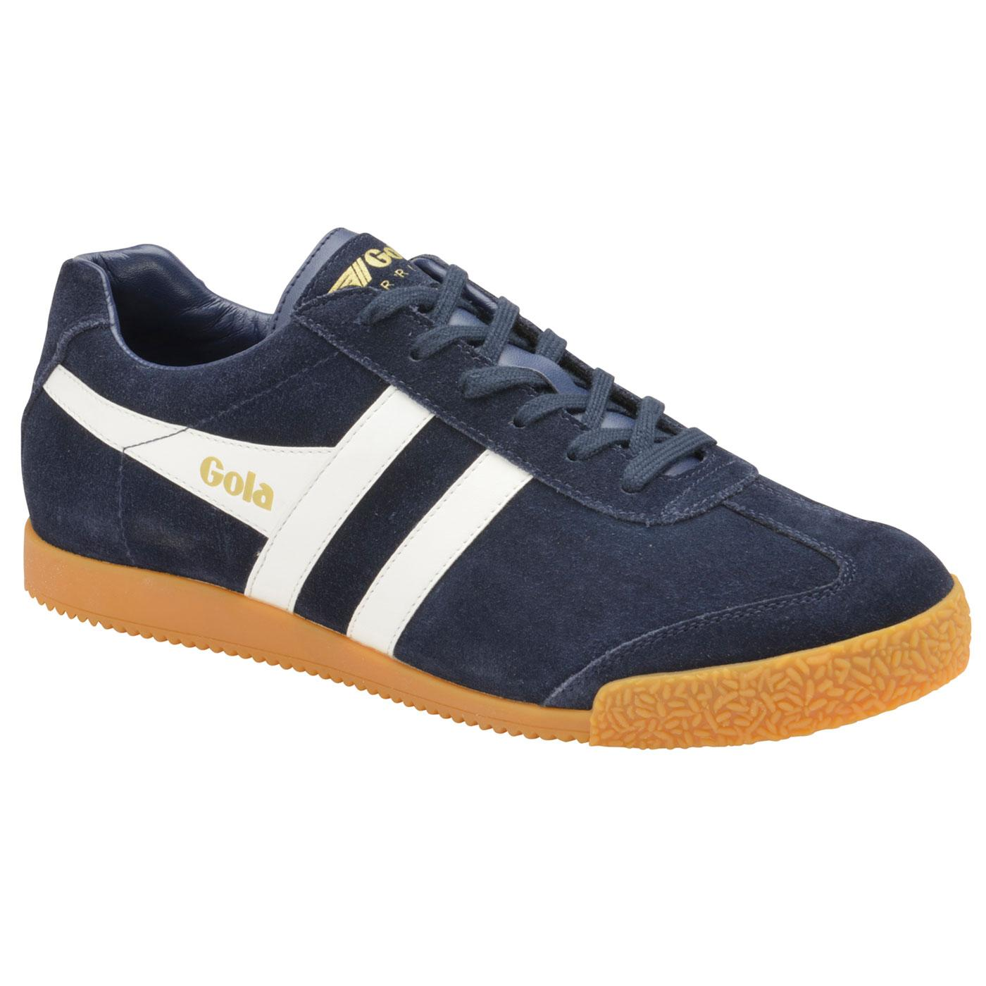 GOLA Harrier Suede Mens Retro 1970s Trainers Navy