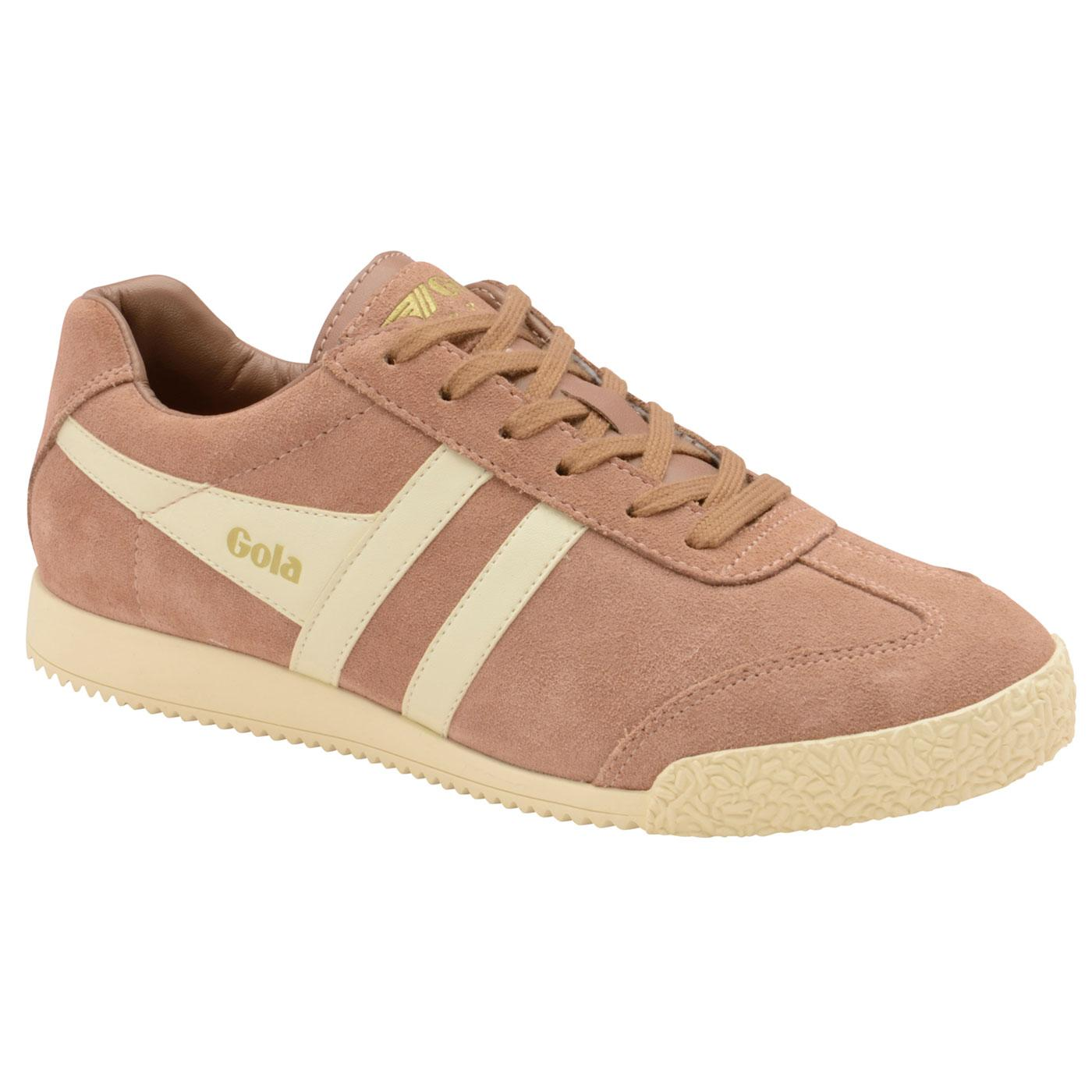 GOLA Harrier Suede Womens Retro 70s Trainers PINK