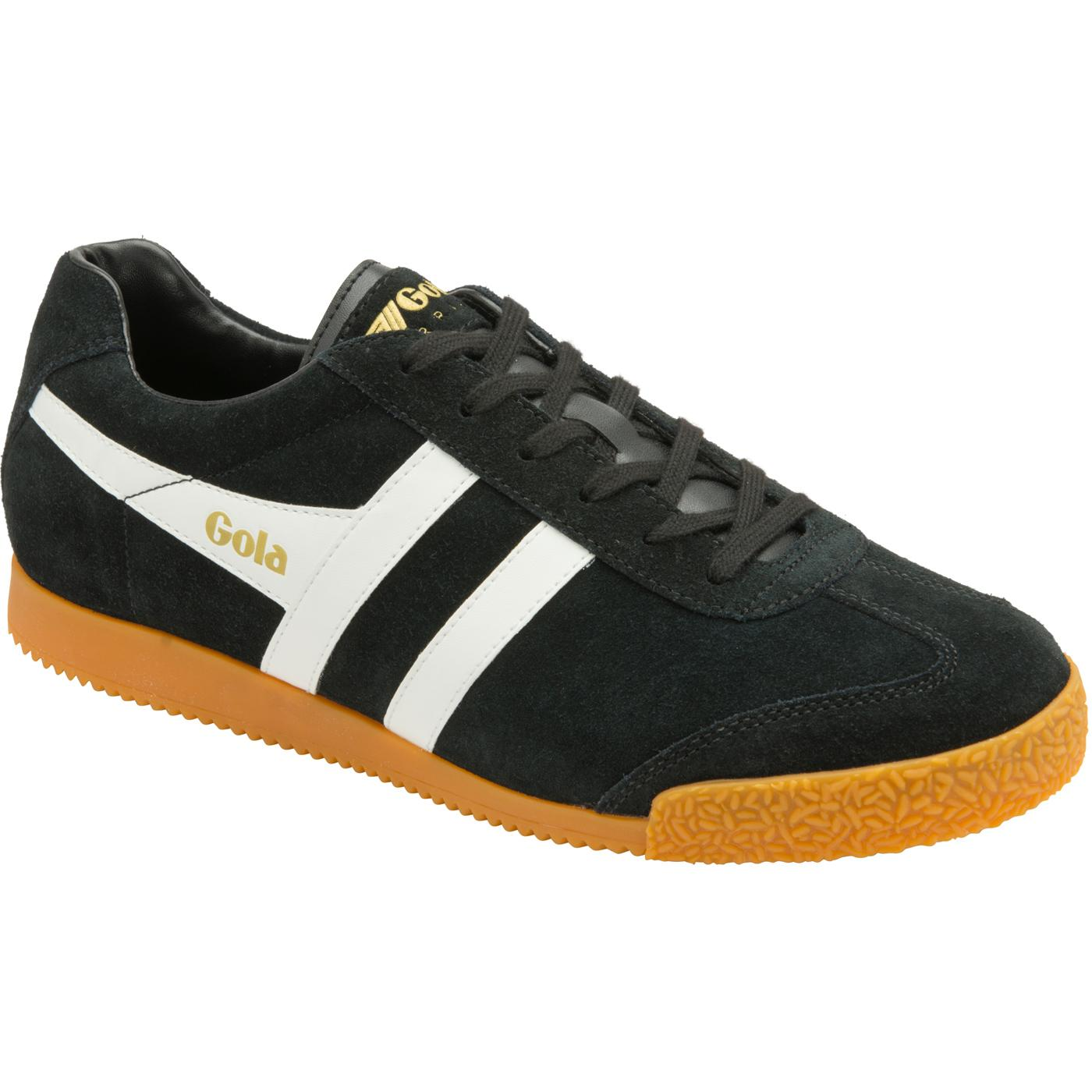 GOLA Harrier Suede Mens Retro 1970s Trainers BLACK