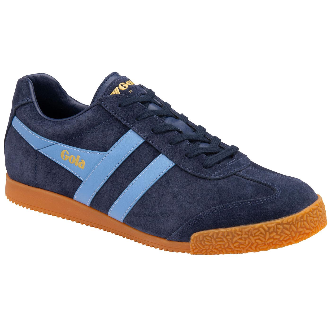 GOLA Harrier Suede Mens Retro 70s Trainers (N/CB)