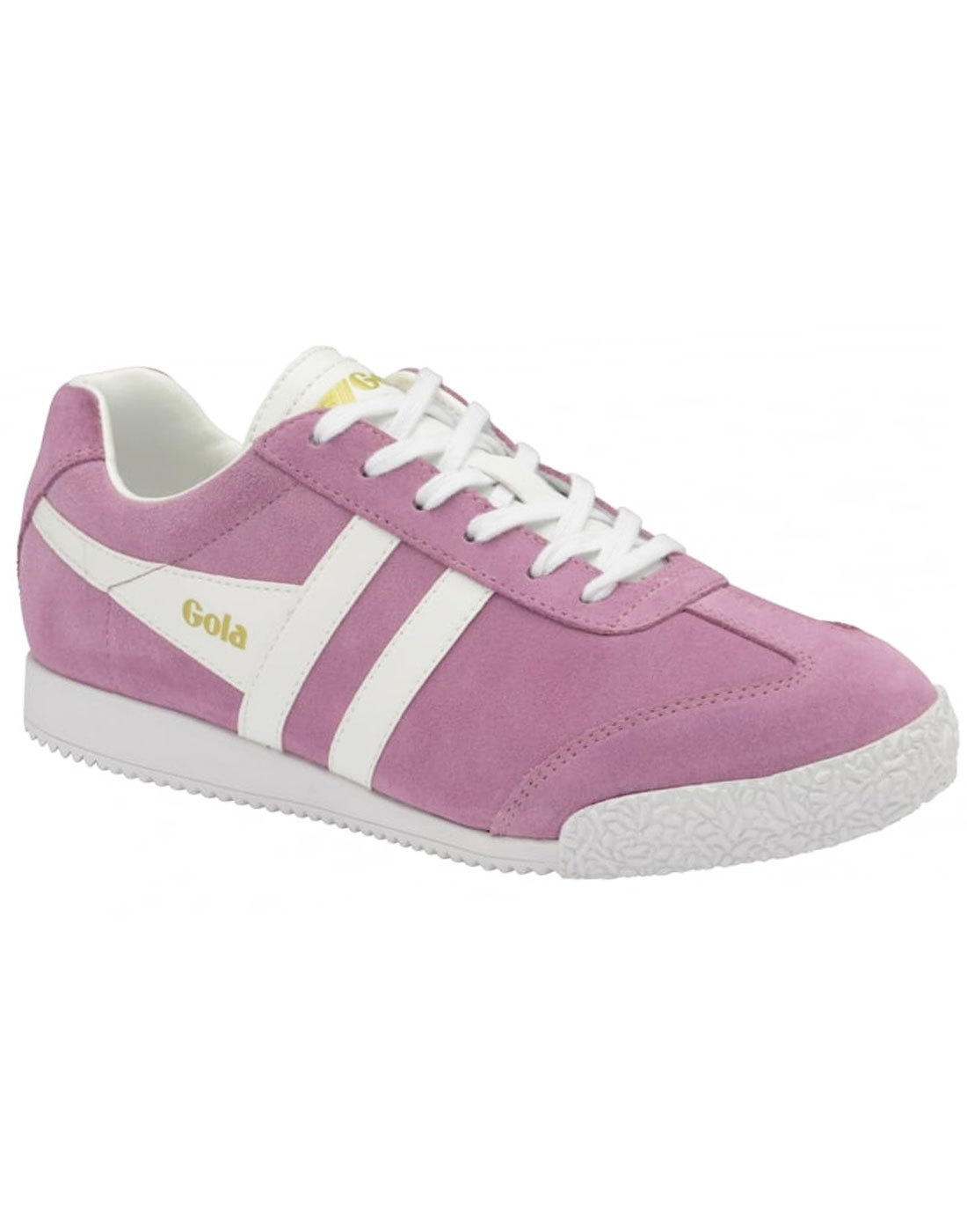 GOLA Harrier Suede Women's Retro 70s Trainers PINK