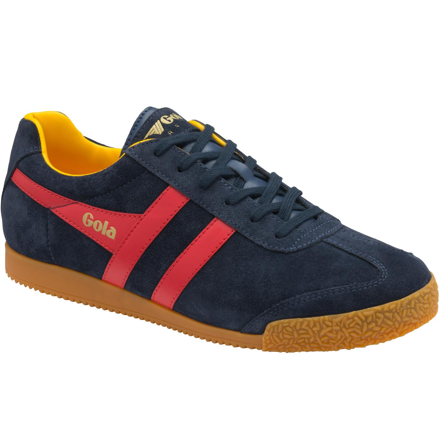 GOLA Harrier Suede Mens Retro 70s Trainers (N/R/S)