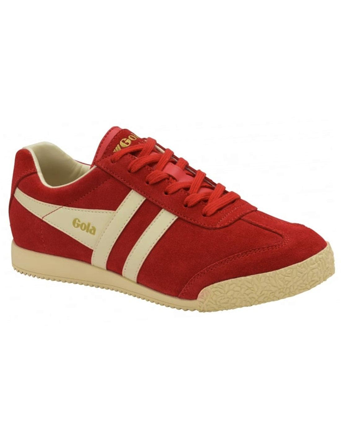 GOLA Harrier Womens Retro 70s Suede Trainers RED