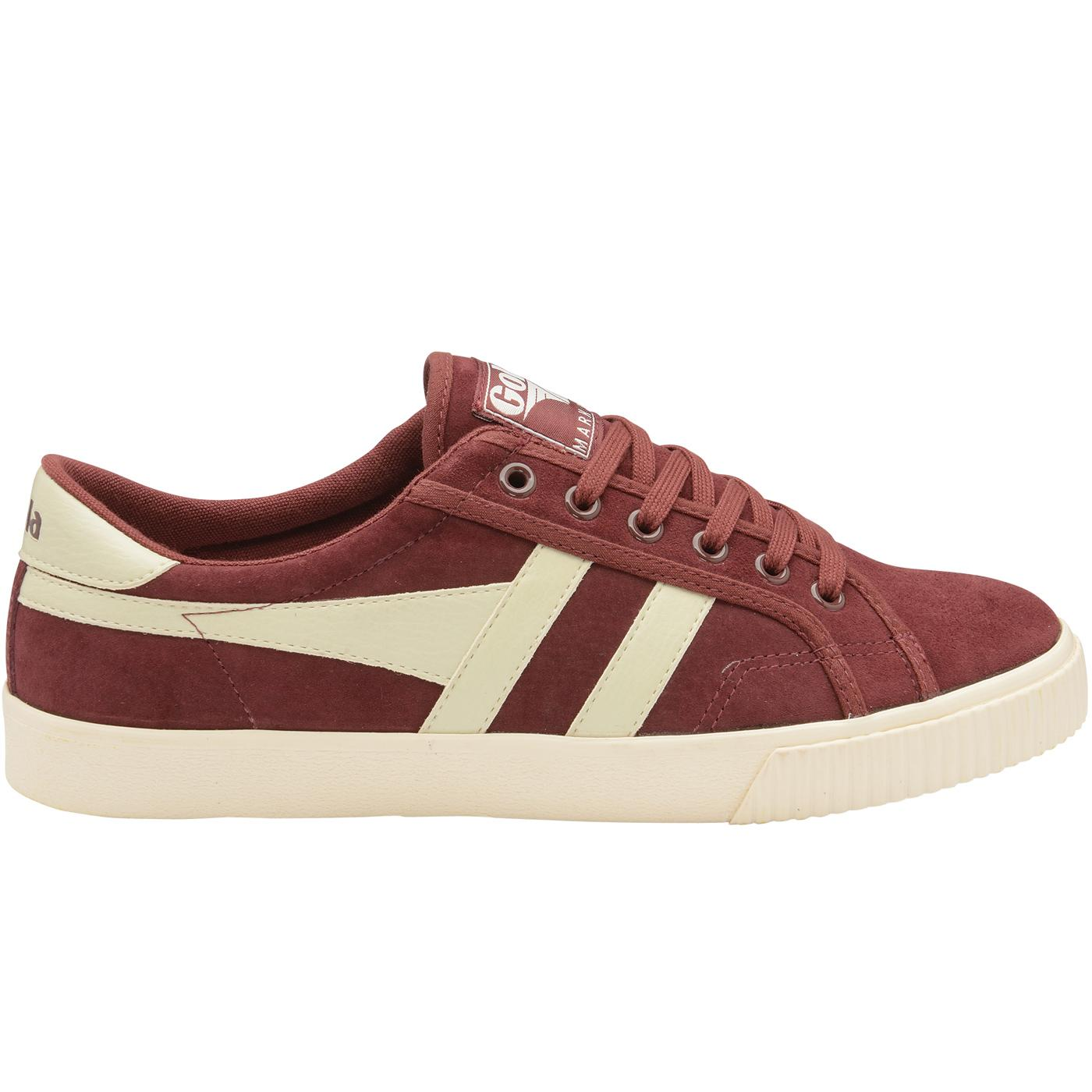 Mark Cox Suede GOLA Retro Tennis Trainers (B/OW)