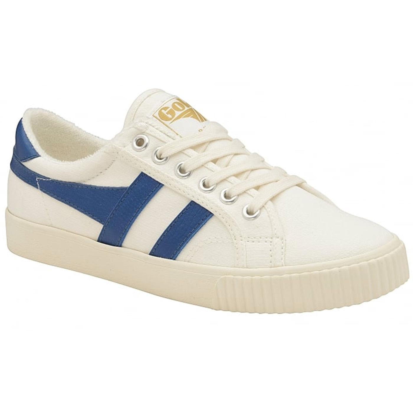 GOLA Mark Cox Womens Retro 70s Tennis Trainers W/B