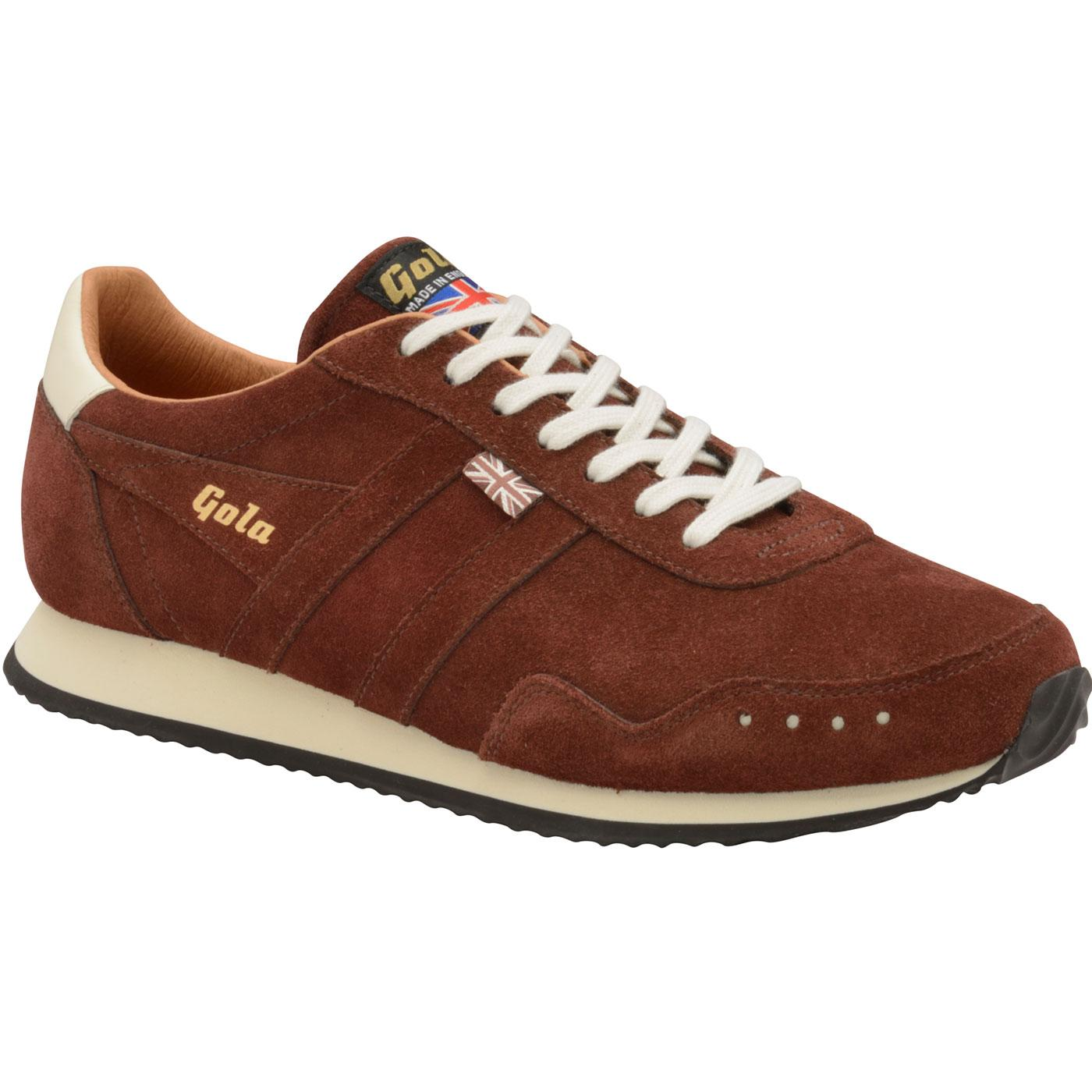 Track Suede GOLA Made in England Retro Trainers C