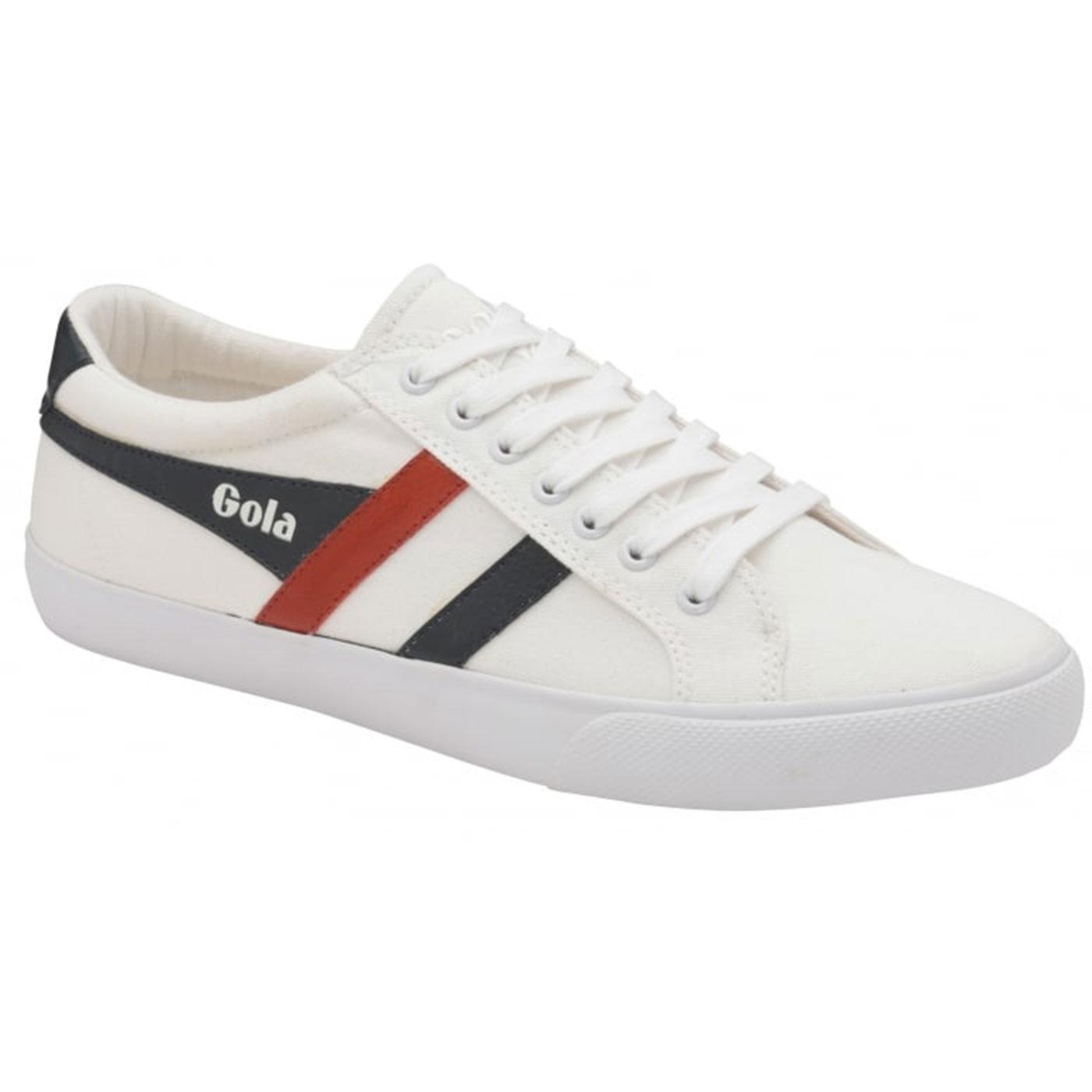 Varsity GOLA Men's Retro 70s Canvas Trainers WHITE