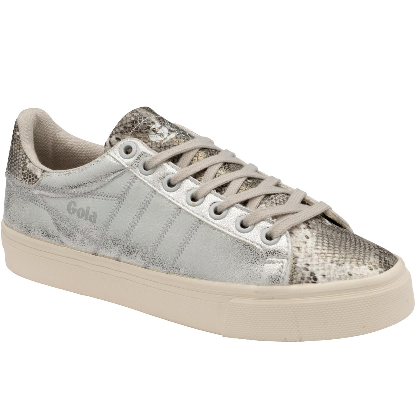Orchid II GOLA Women's Retro Trainers SILVER/SNAKE