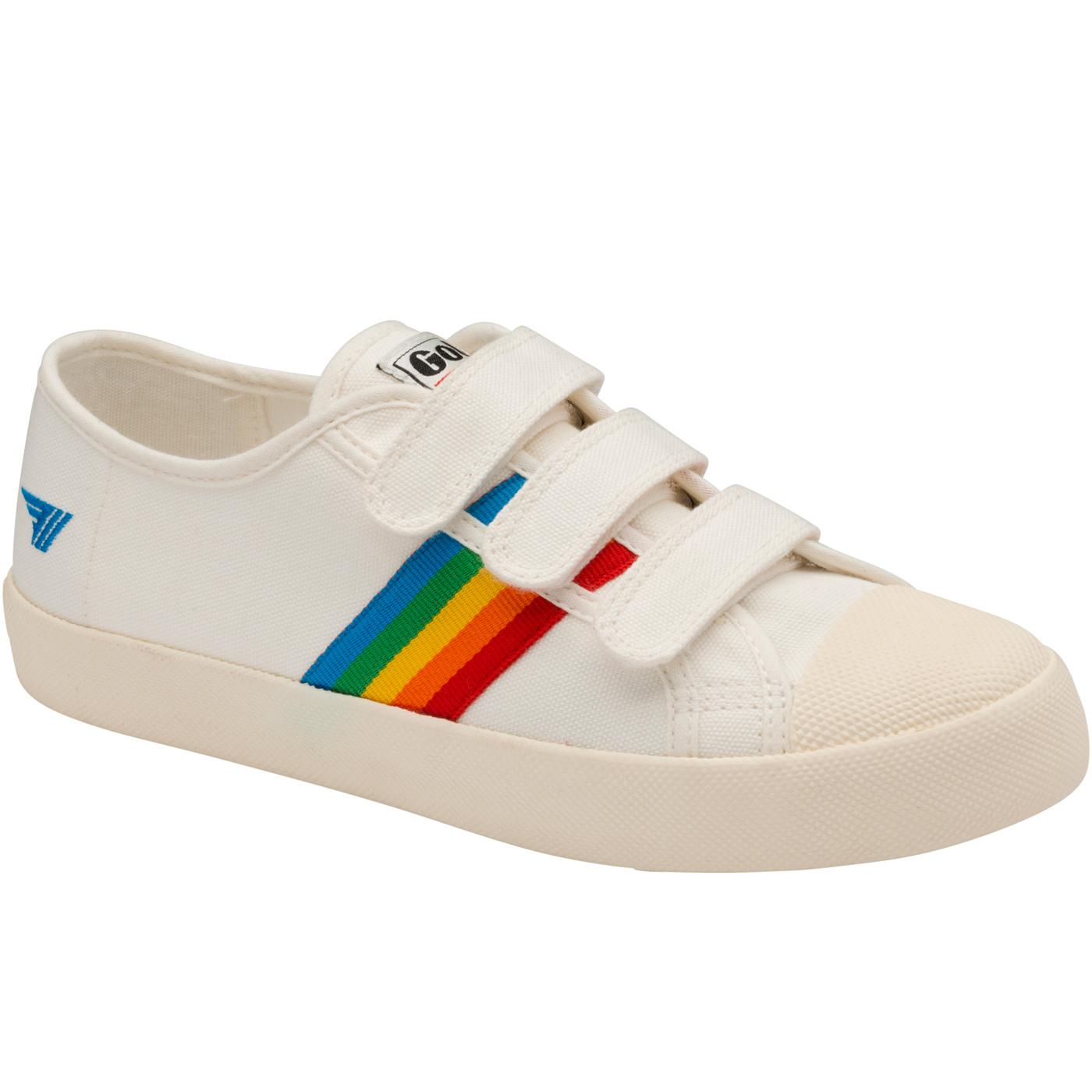 GOLA Coaster Rainbow Velcro Trainers (White/Multi)