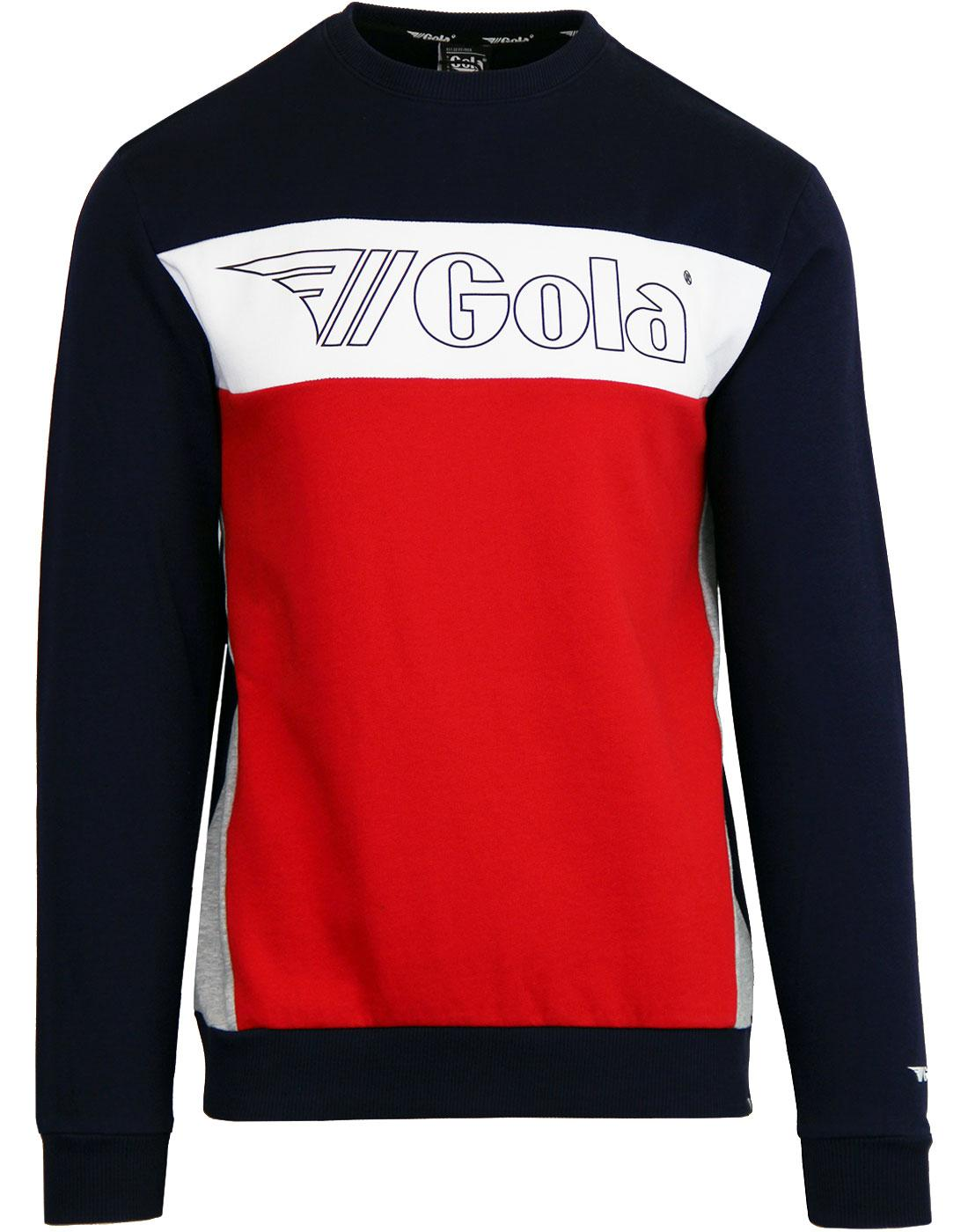 Ryan GOLA CLASSICS Retro 80's Panel Sweater - Navy