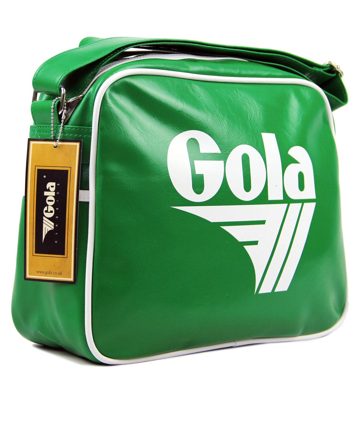 GOLA Redford Retro 70s Sports Shoulder Bag GRN/WHT