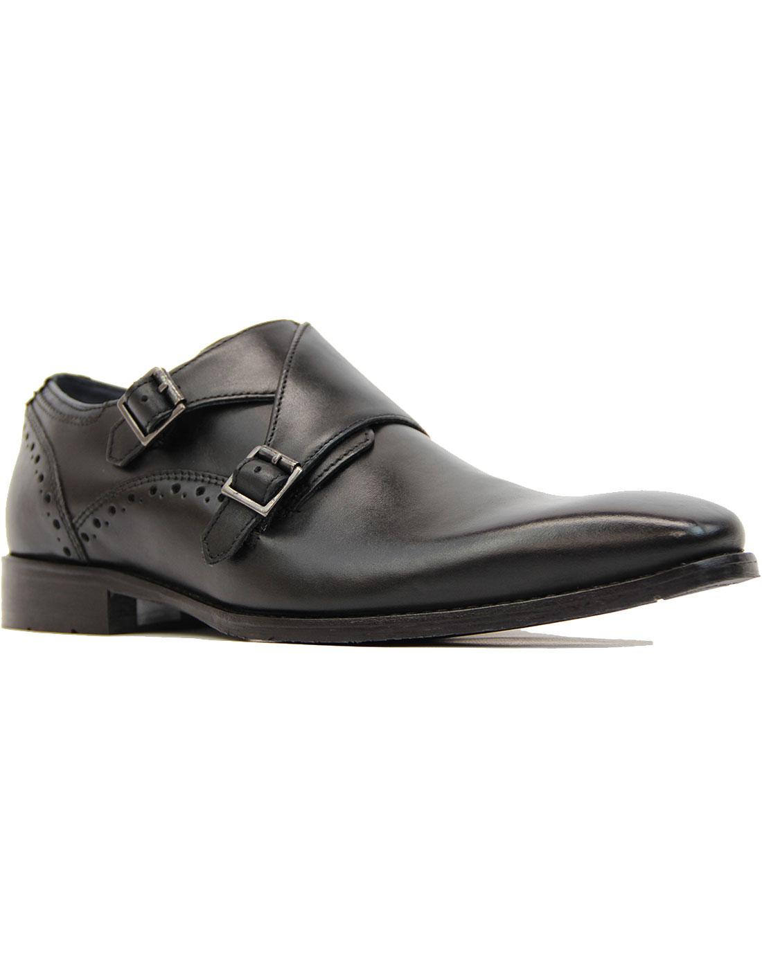 Ribchester Goodwin Smith Retro Monk Strap Shoes