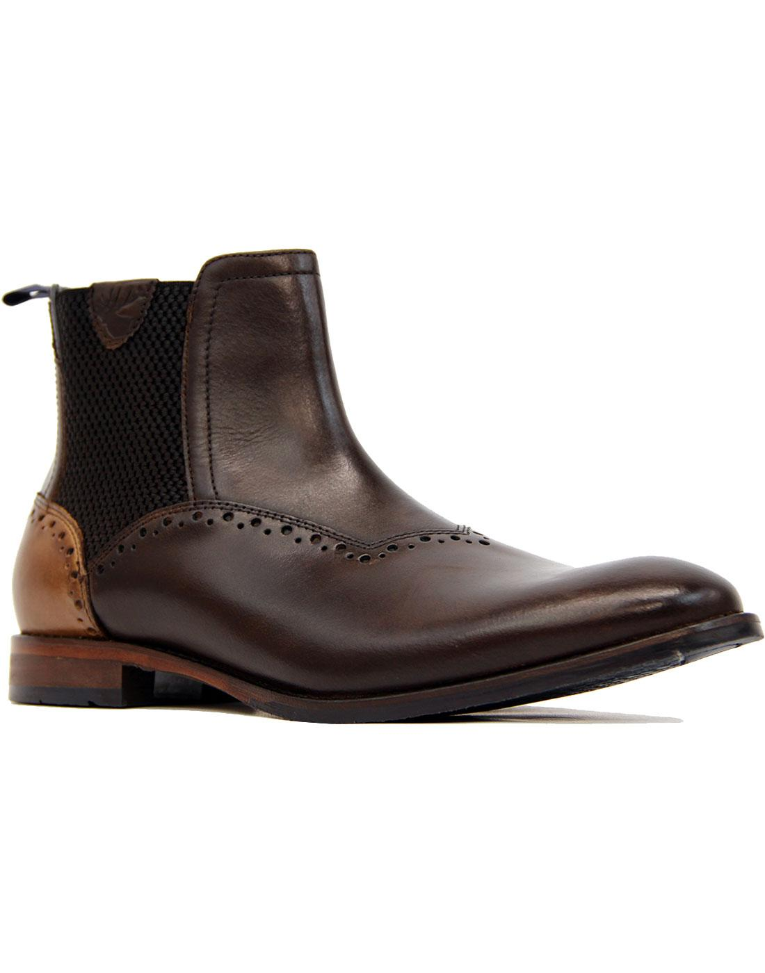 Edisford Goodwin Smith 60s Leather Chelsea Boots