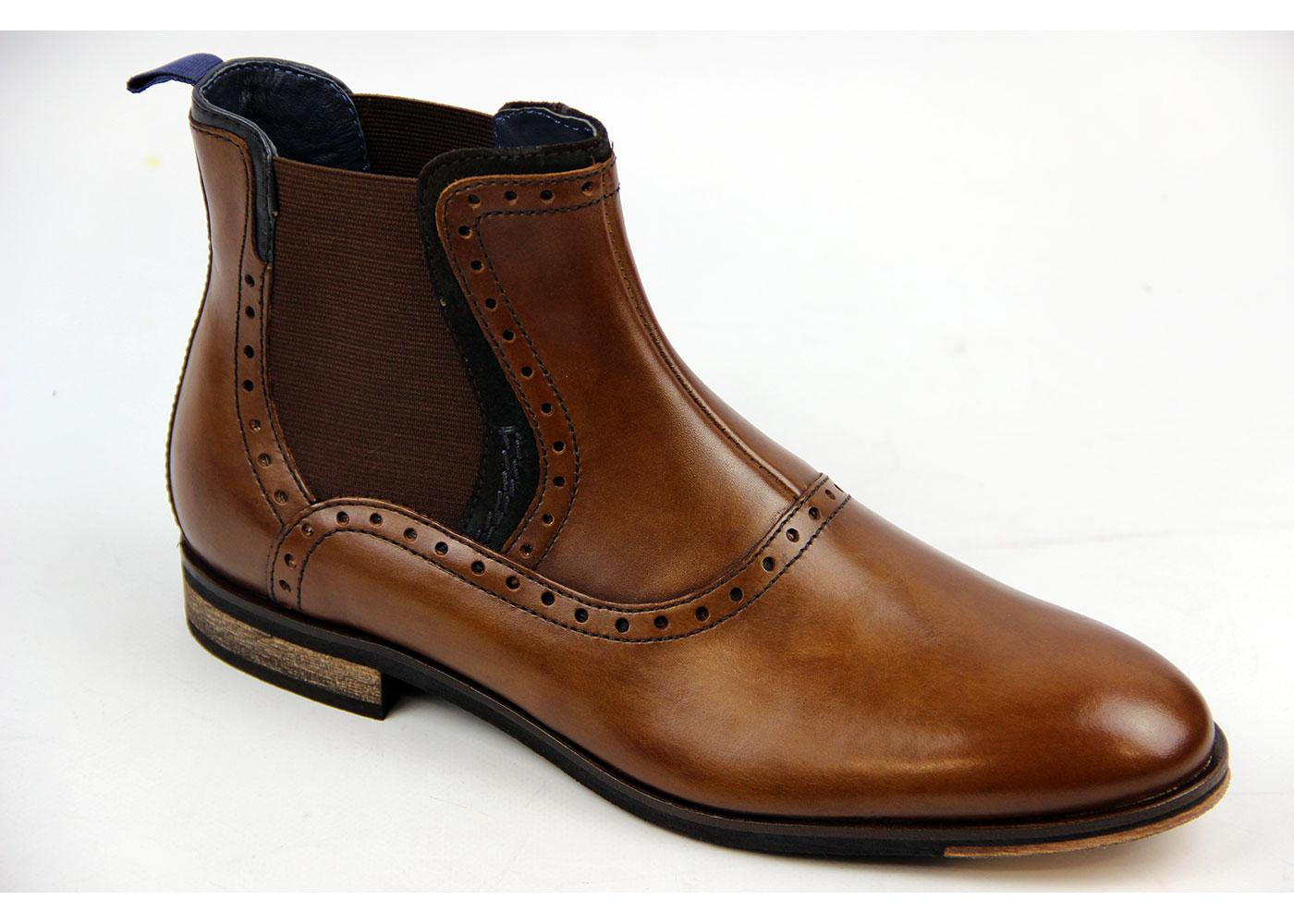 Baldwin GOODWIN SMITH Mod Brogue Chelsea Boots (T)