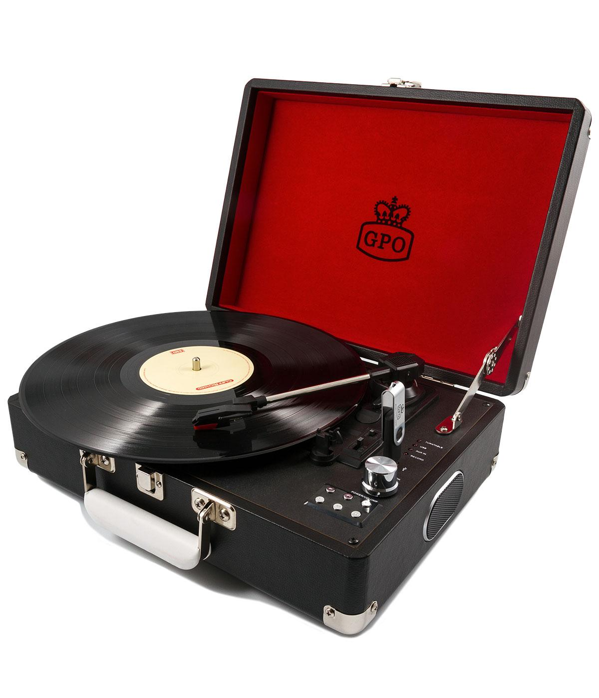 GPO RETRO 1960s Attache Case Vinyl Record Player