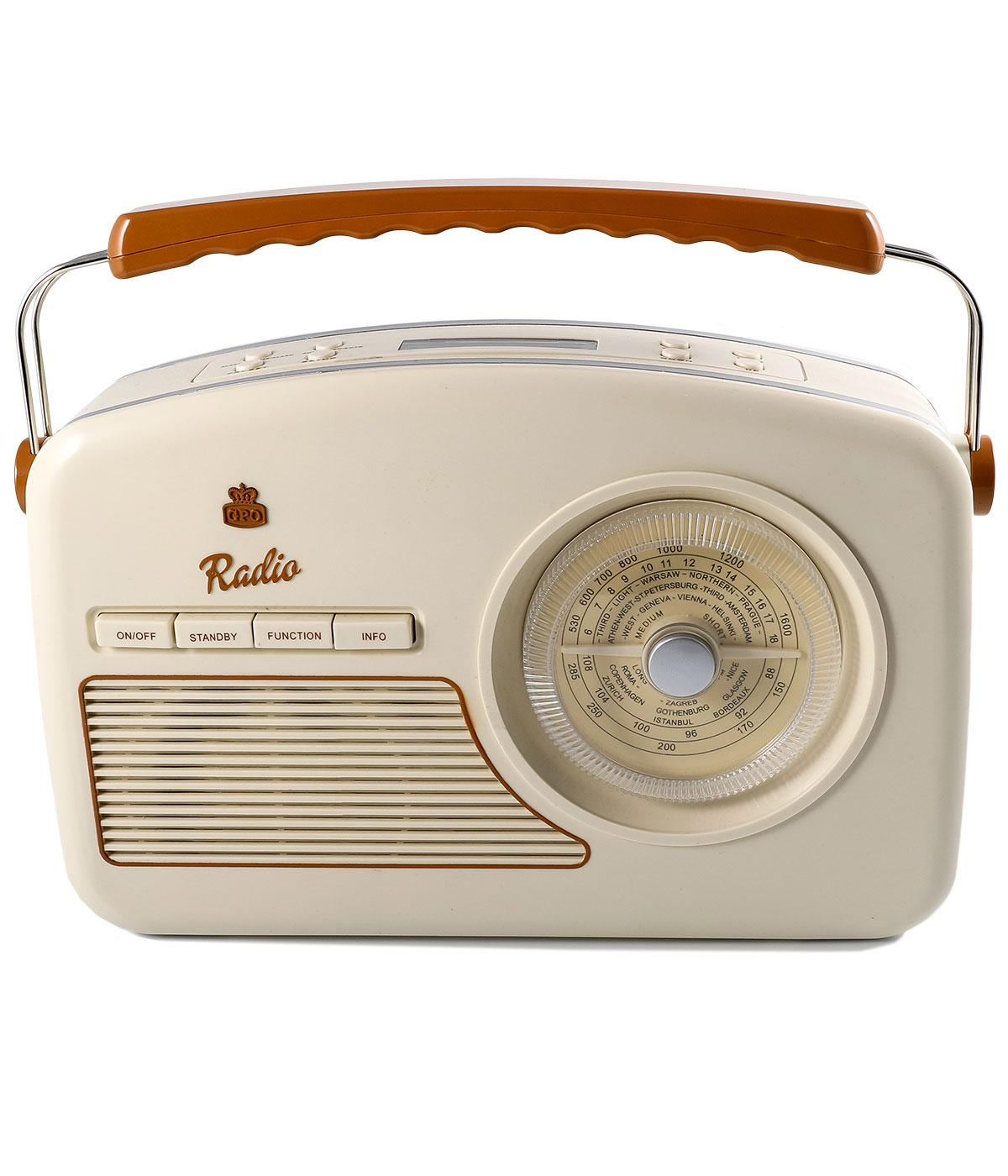gpo retro vintage 50s style rydell dab radio in cream. Black Bedroom Furniture Sets. Home Design Ideas