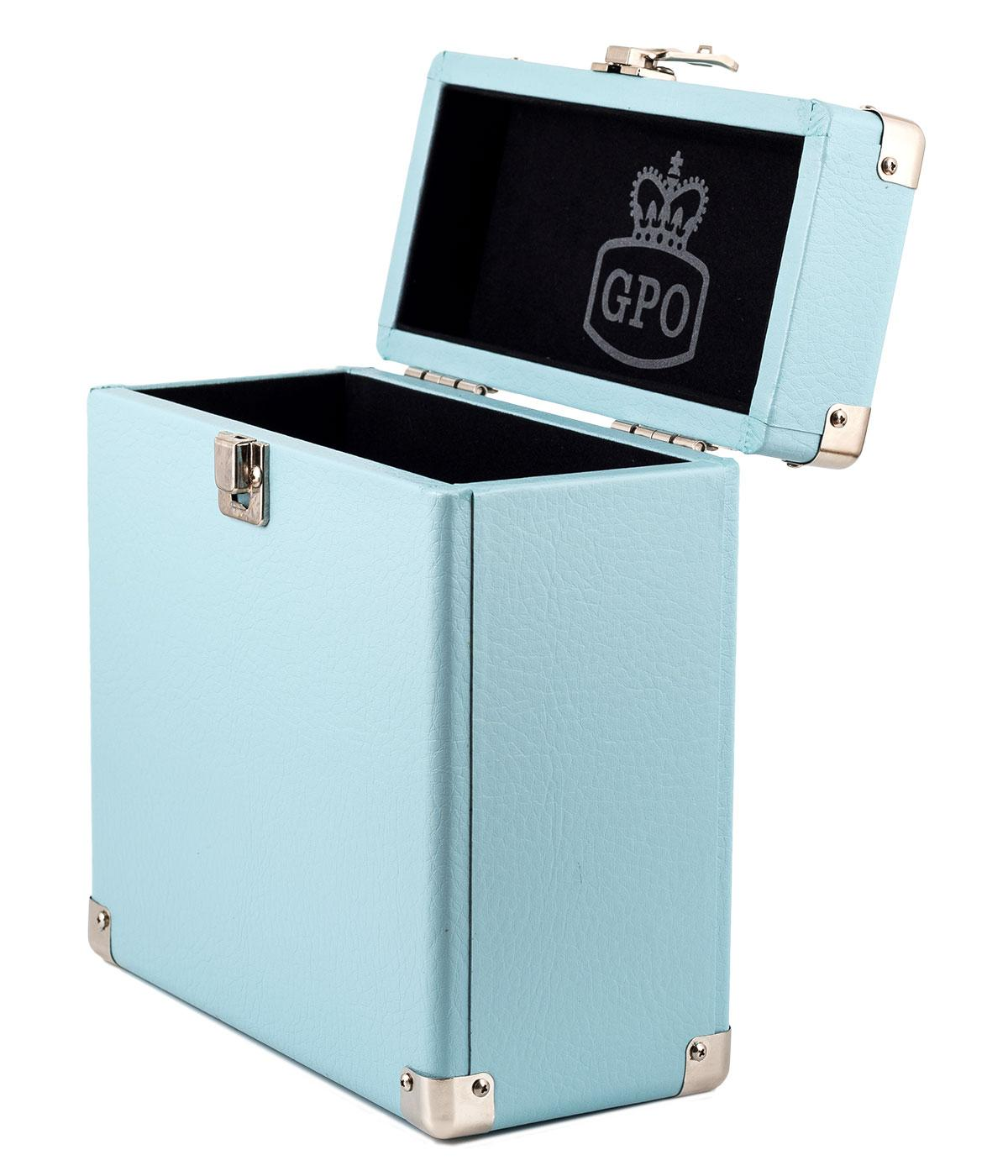 GPO Retro 7 Inch Vinyl Case | Mod Record Box BLUE