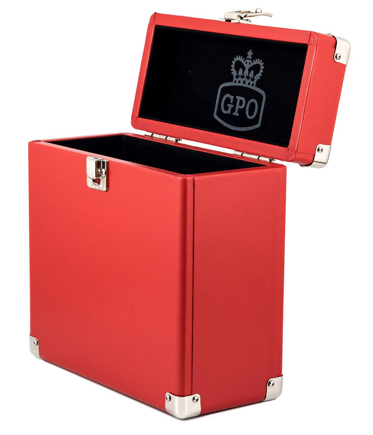 GPO Retro 7 Inch Vinyl Case | Mod Record Box RED