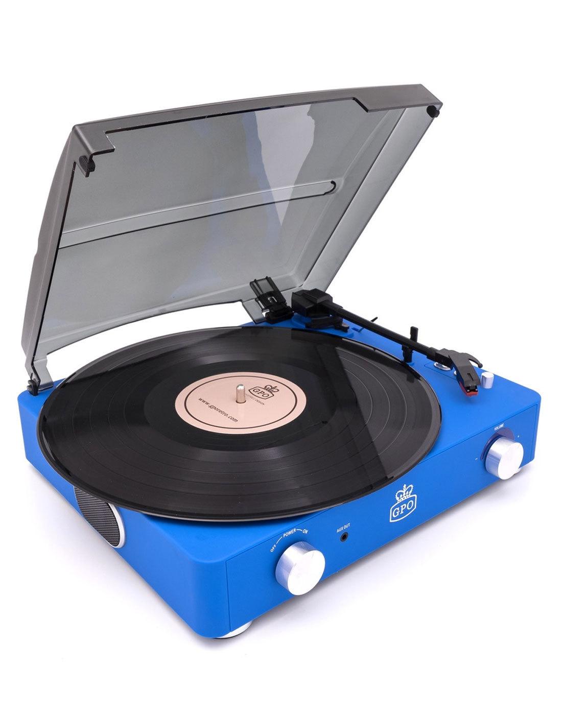 Stylo II GPO RETRO Mod Record Player - Cobalt Blue