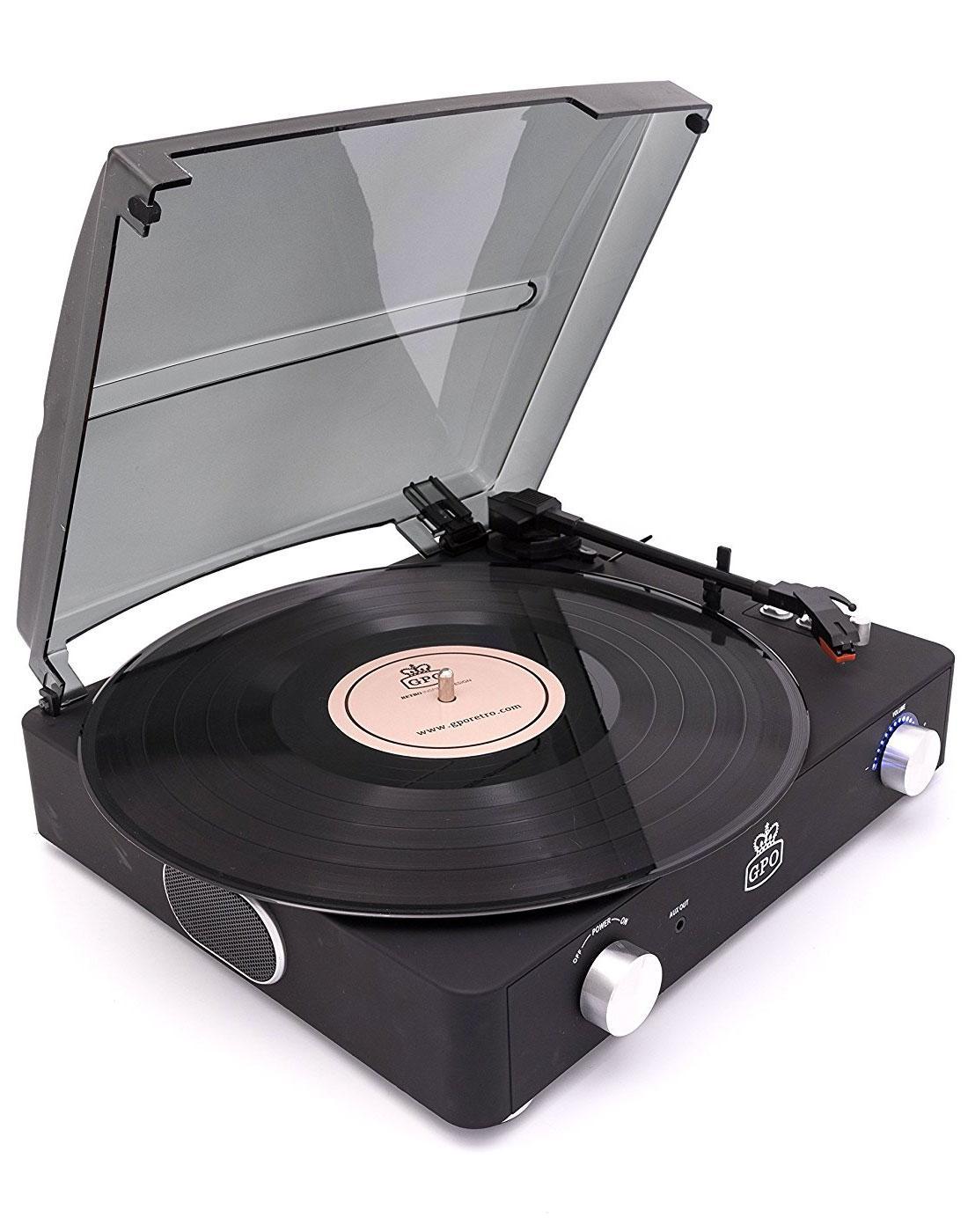 Stylo II GPO RETRO 1960s Mod Record Player - Black