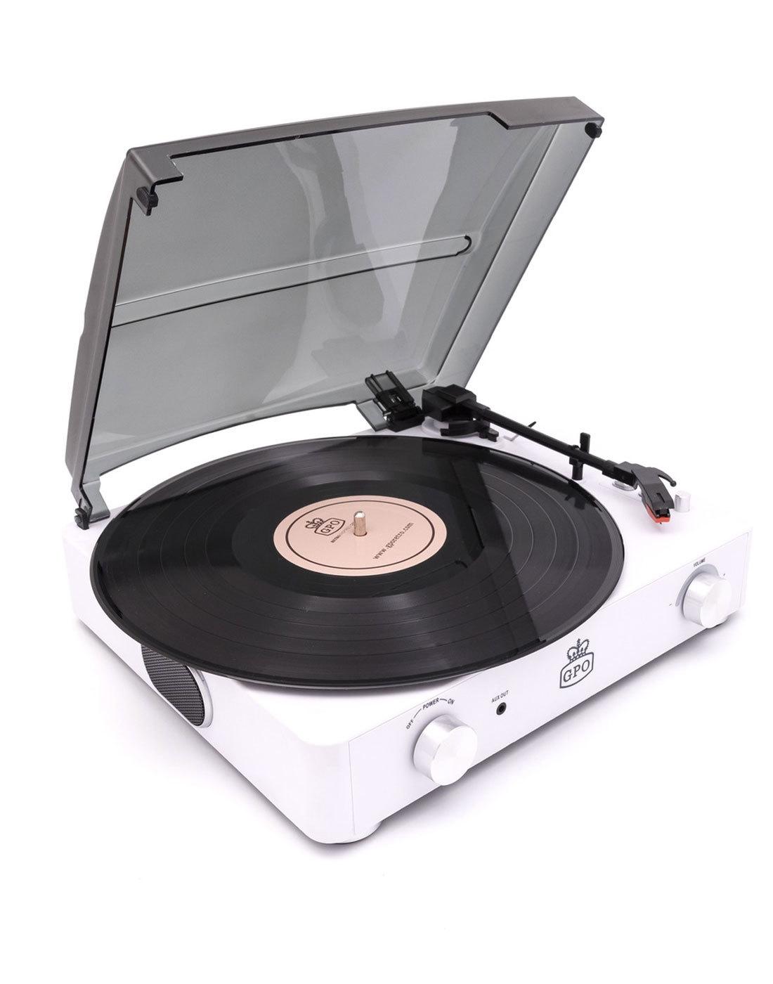 Stylo II GPO RETRO Mod Record Player CHALK WHITE