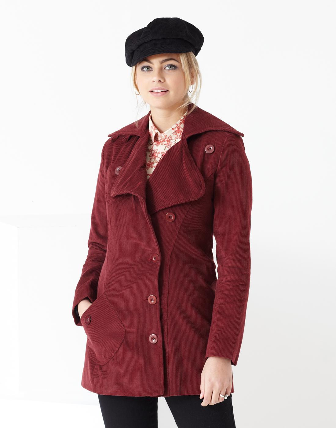 Grace MADCAP ENGLAND Retro 60s Mod Corduroy Coat