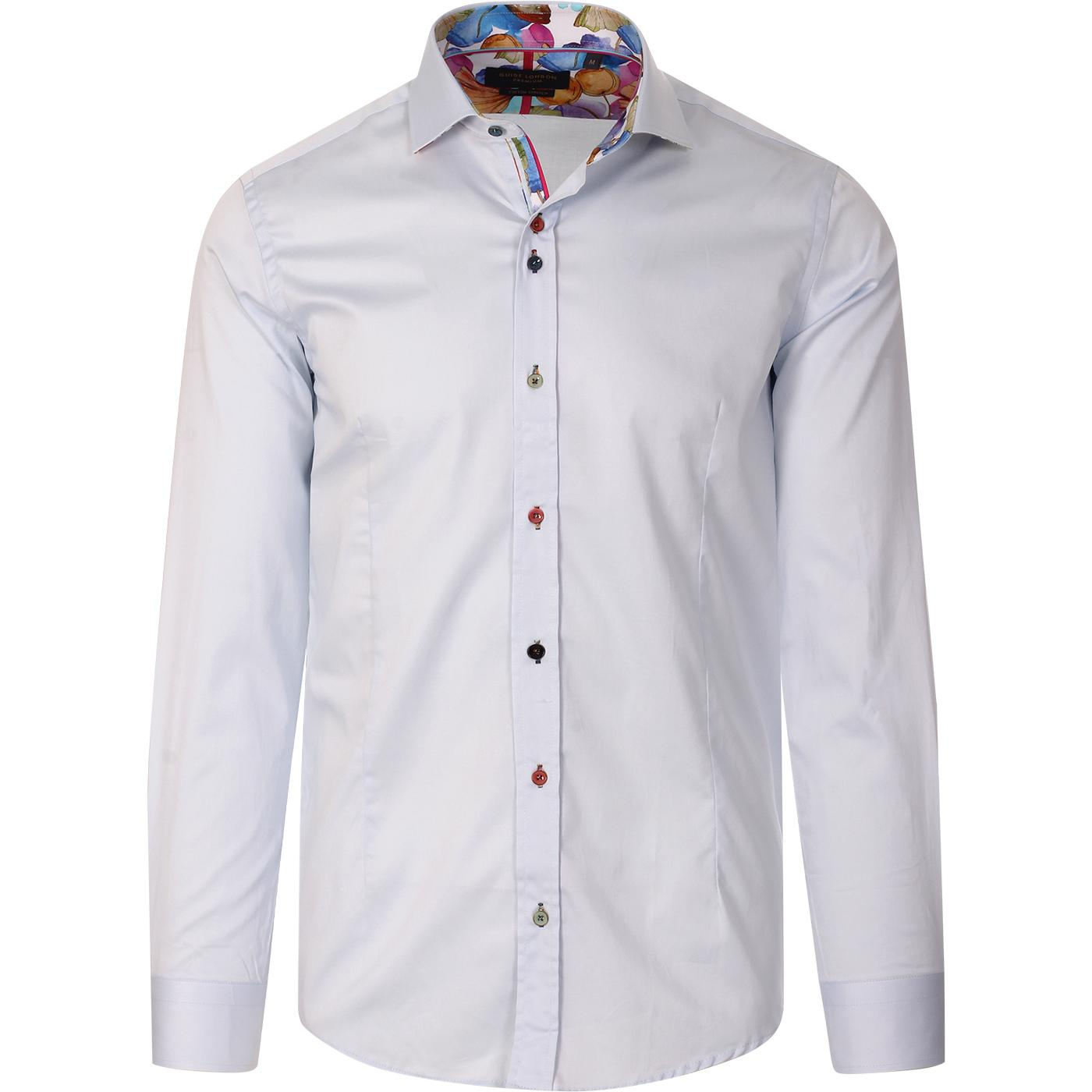 GUIDE LONDON Multi Colour Button Smart Shirt (SB)