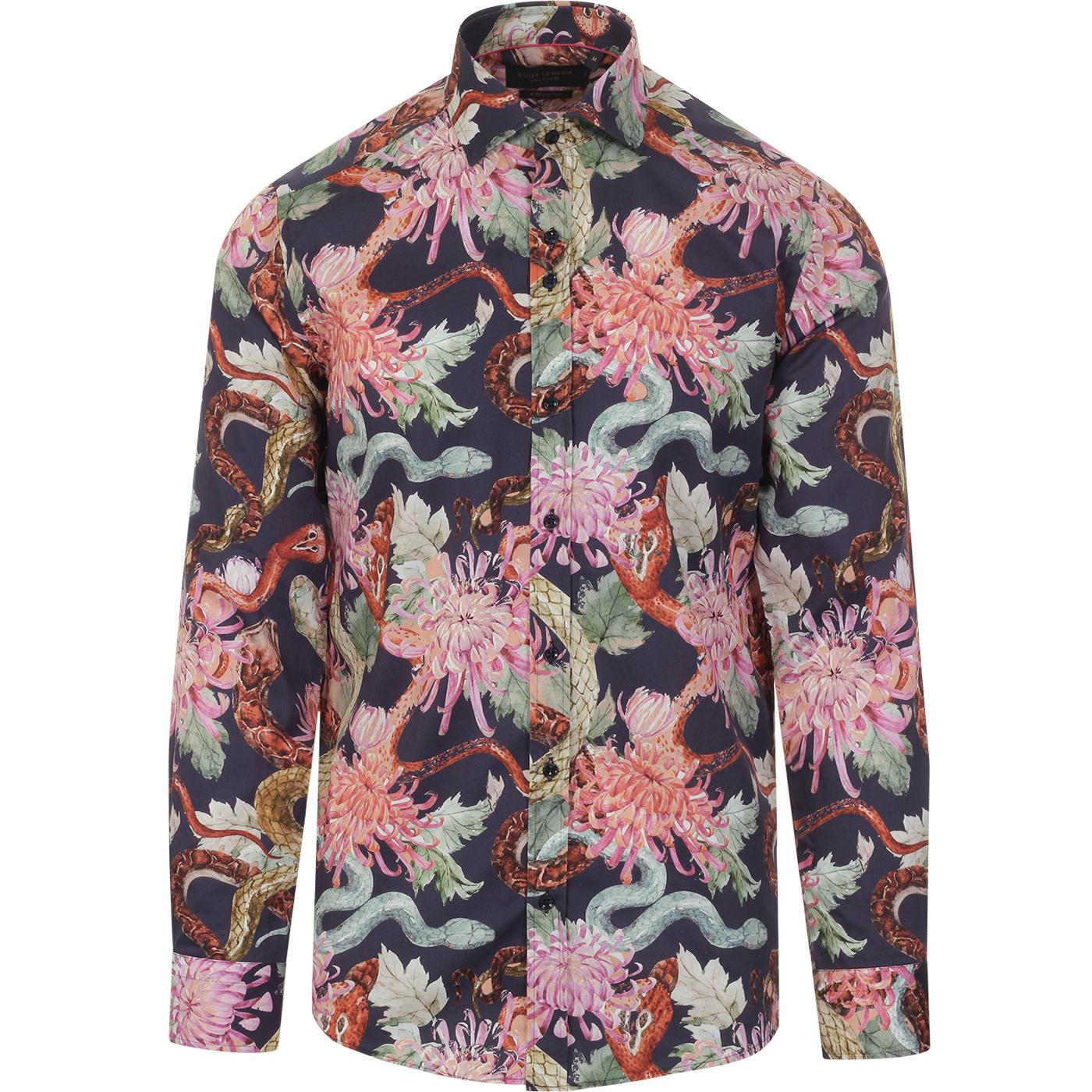 GUIDE LONDON Retro Bold Painted Floral Shirt