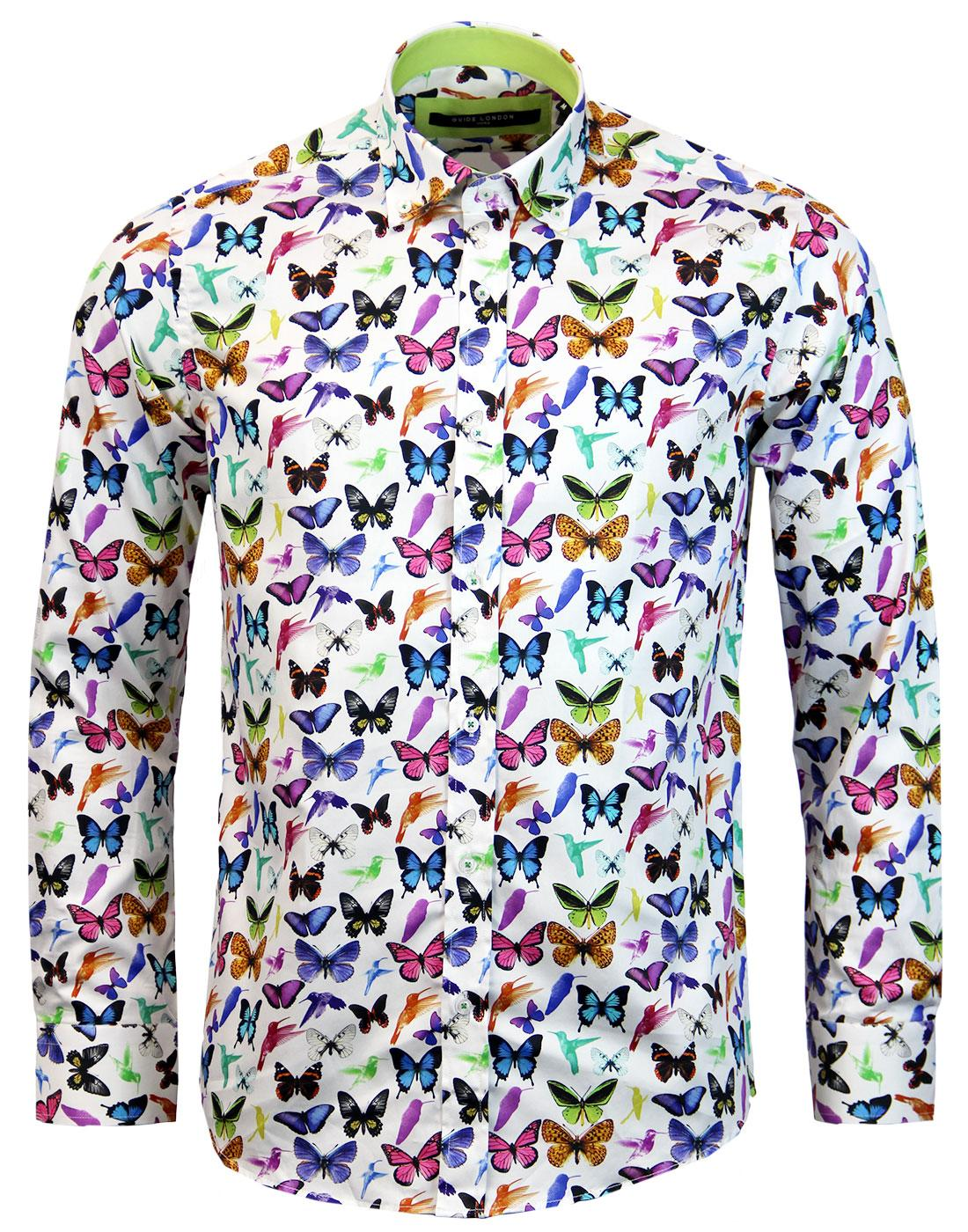 Men S Bird Print Shirt