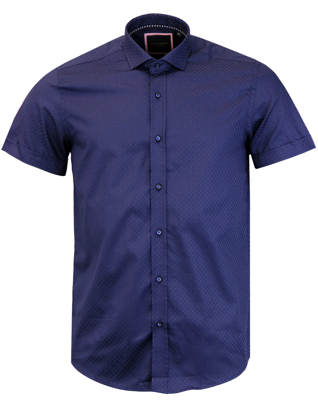 GUIDE LONDON Retro Mod Tonal Checkerboard Shirt