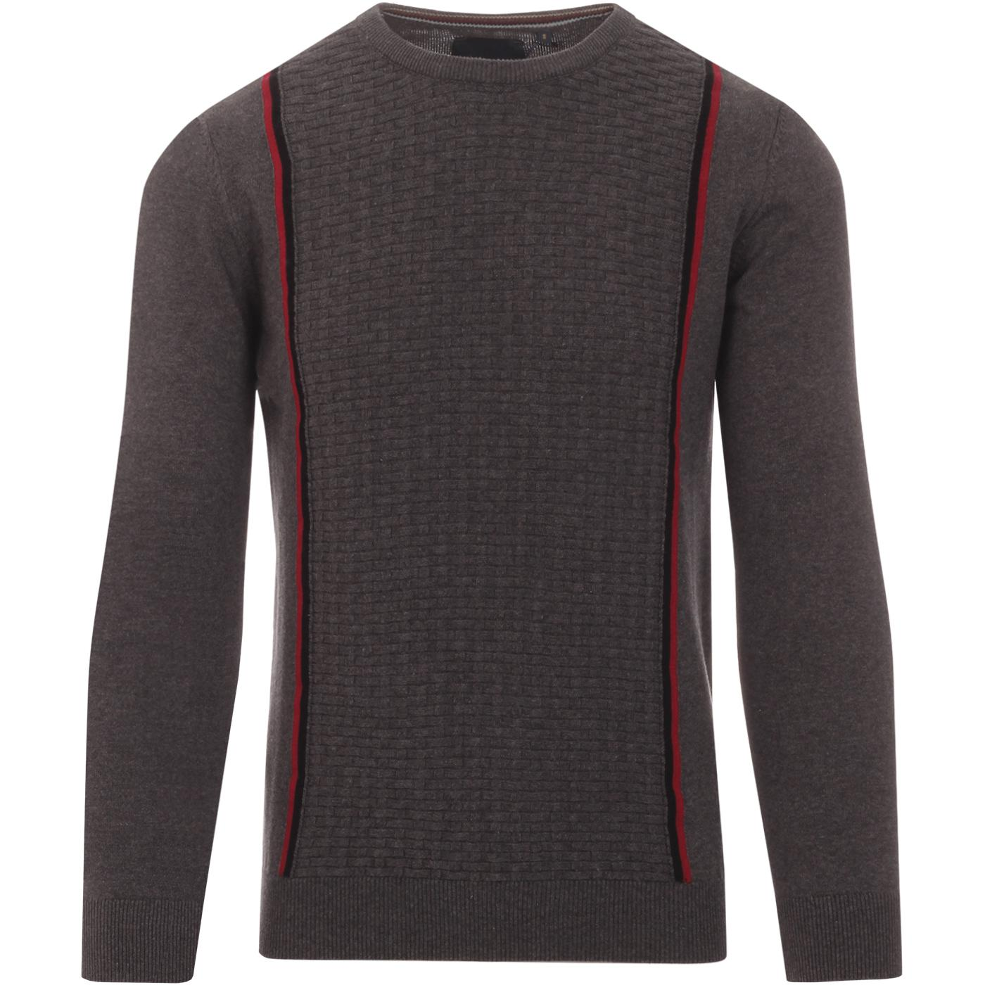 GUIDE LONDON Mod Basket Weave Knit Stripe Jumper G