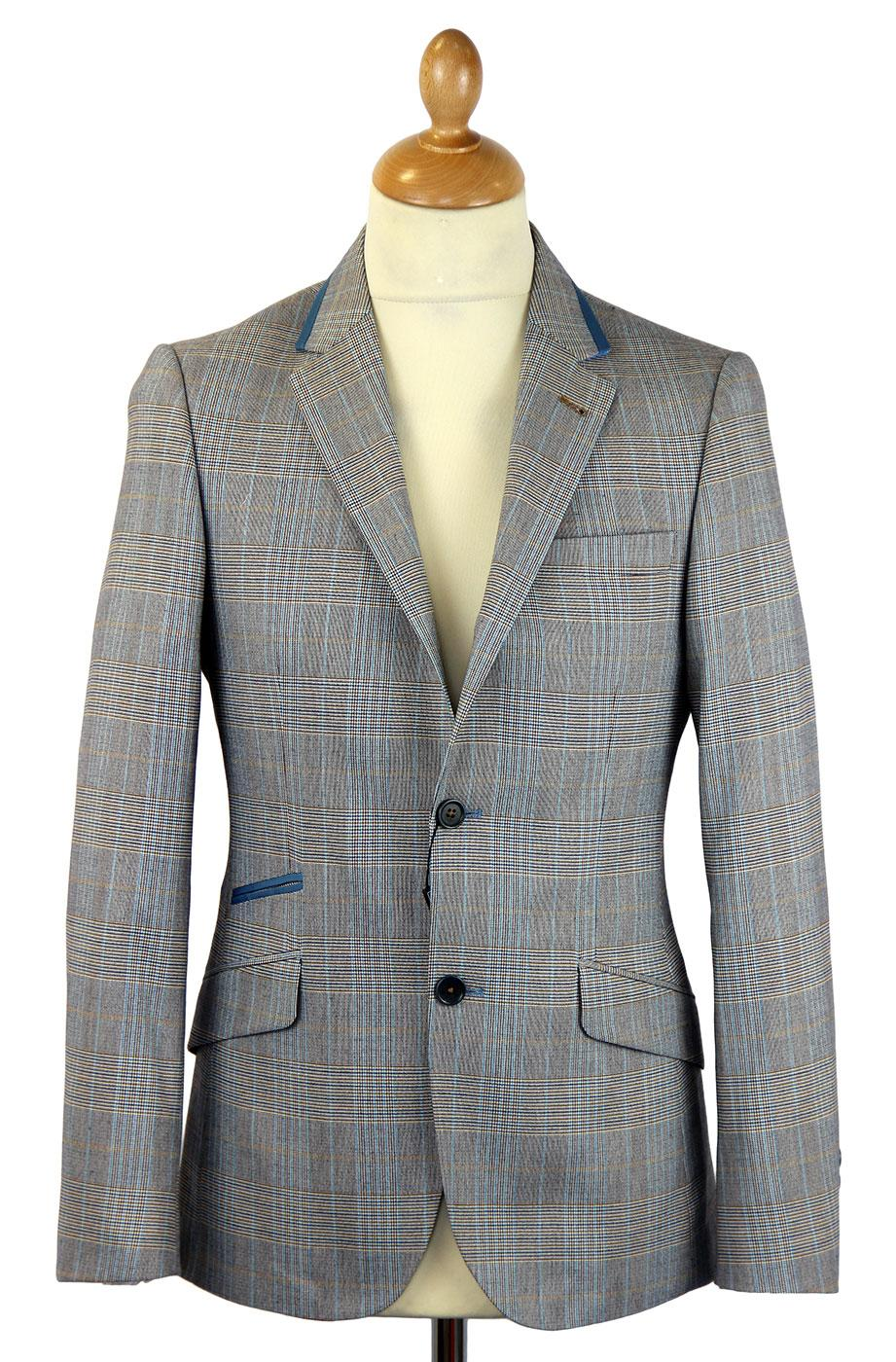 GUIDE LONDON Prince of Wales Check Mod Blazer GREY