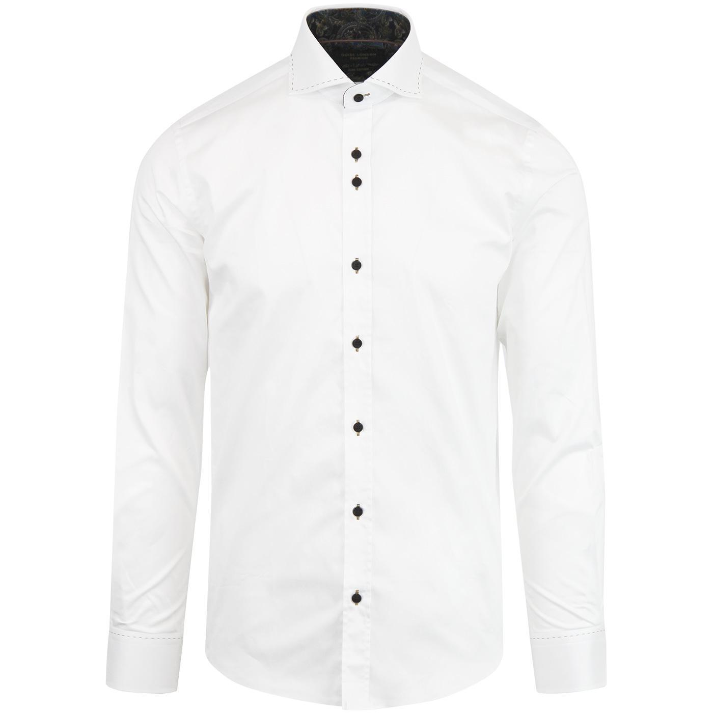 GUIDE LONDON 60s Mod Stitch Collar Smart Shirt (W)